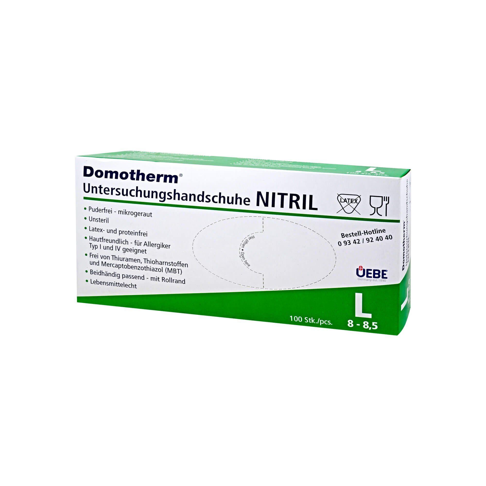 Domotherm Untersuchungshandschuhe Nitril L, 100 St