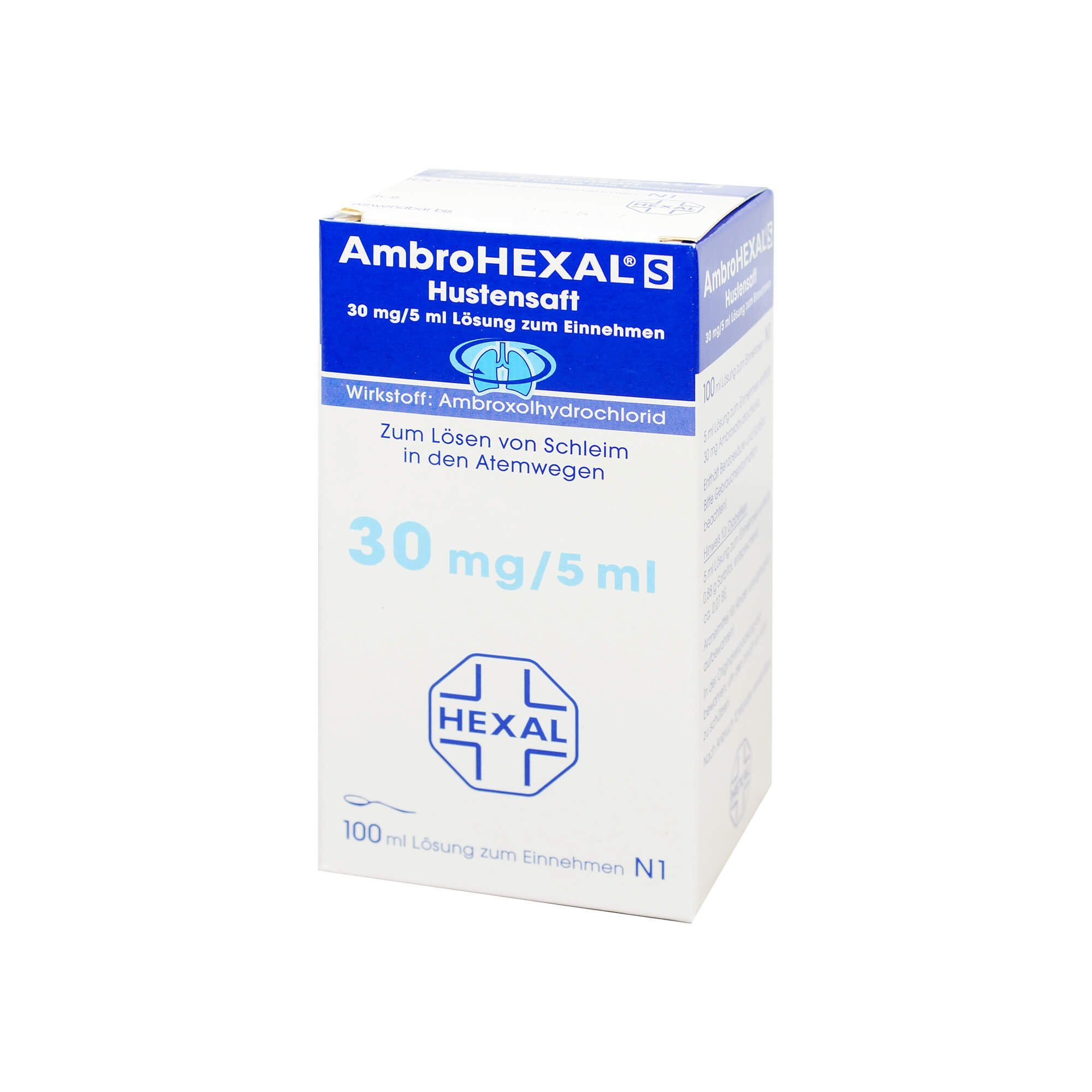AmbroHEXAL S Hustensaft 30 mg/5 ml, 100 ml