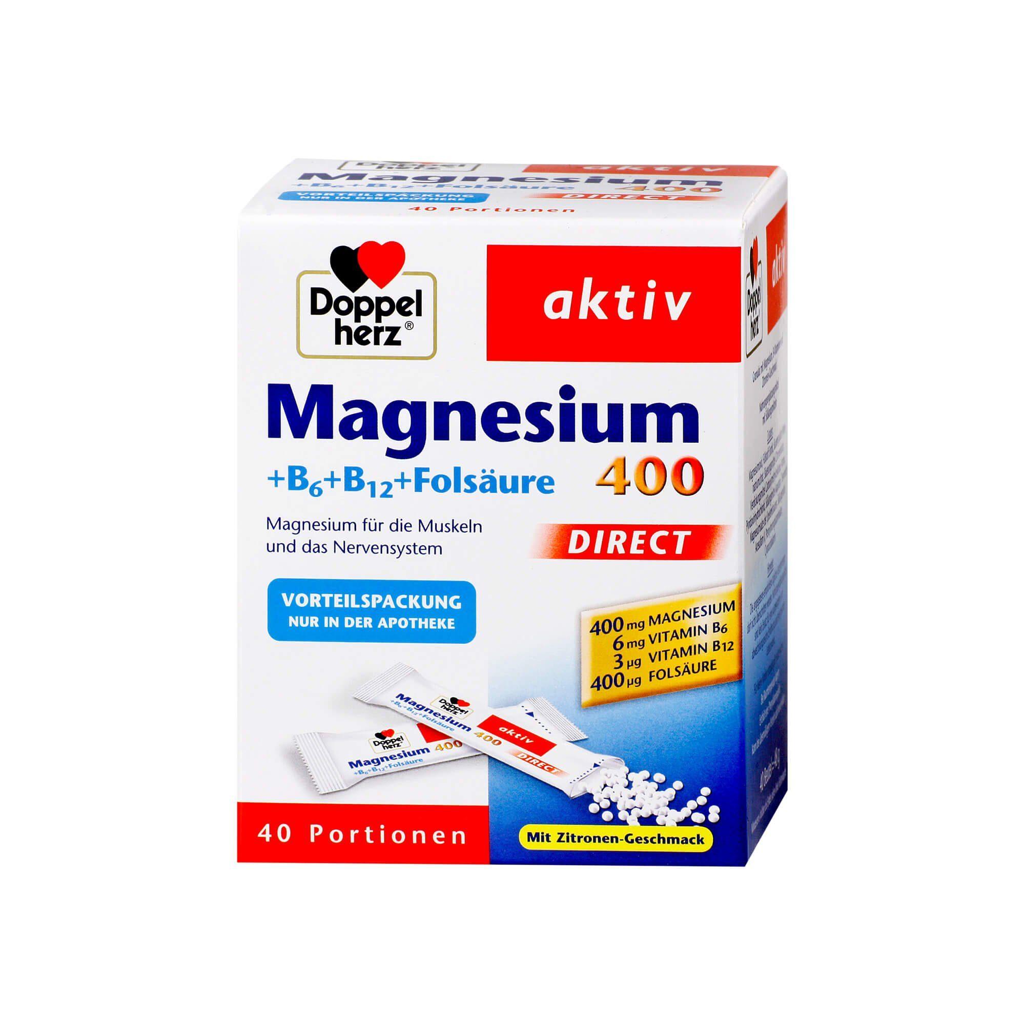 Doppelherz Magnesium+B Vitamine Direct Pellets , 40 St