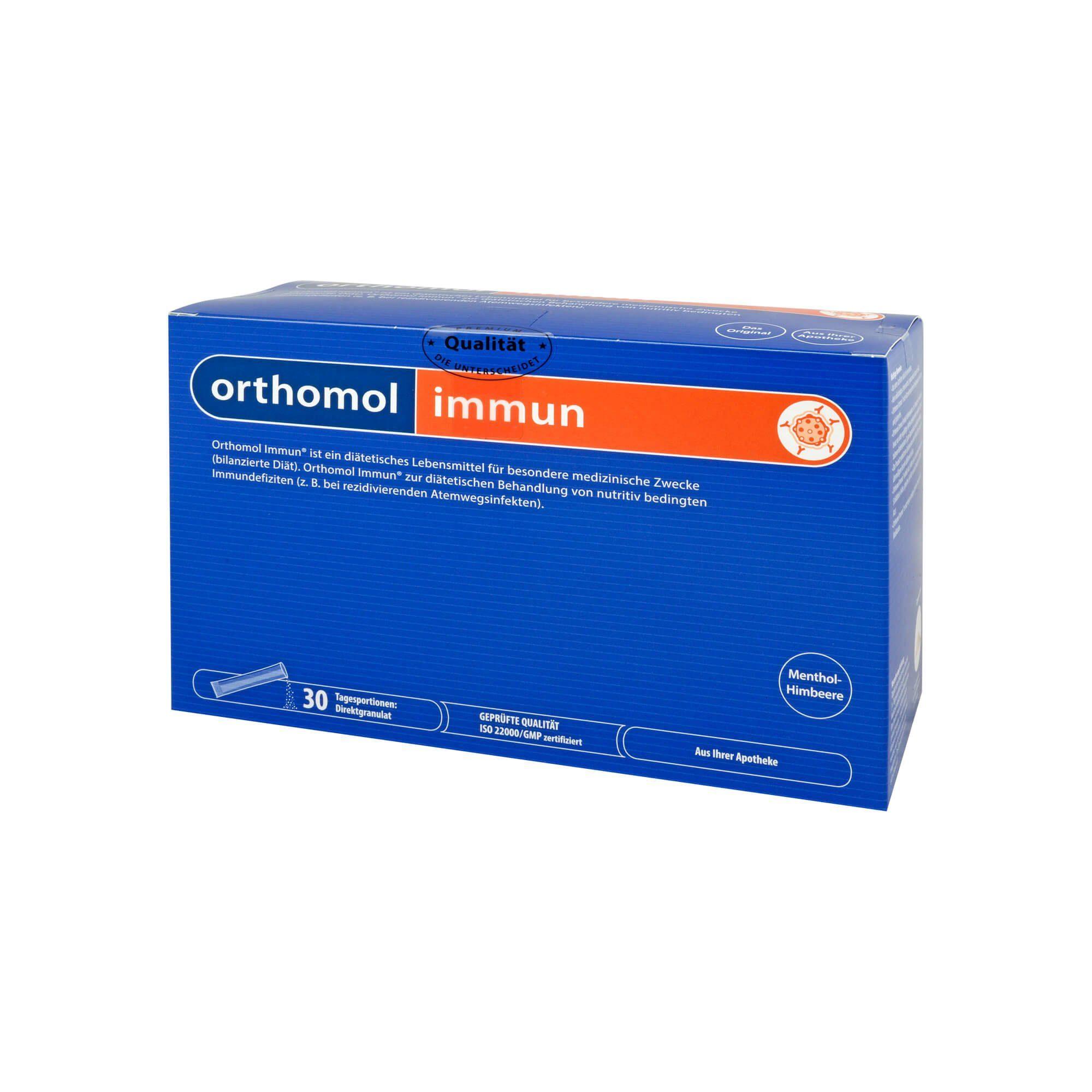 Orthomol Immun Direktgranulat Himbeer/Menthol, 30 St