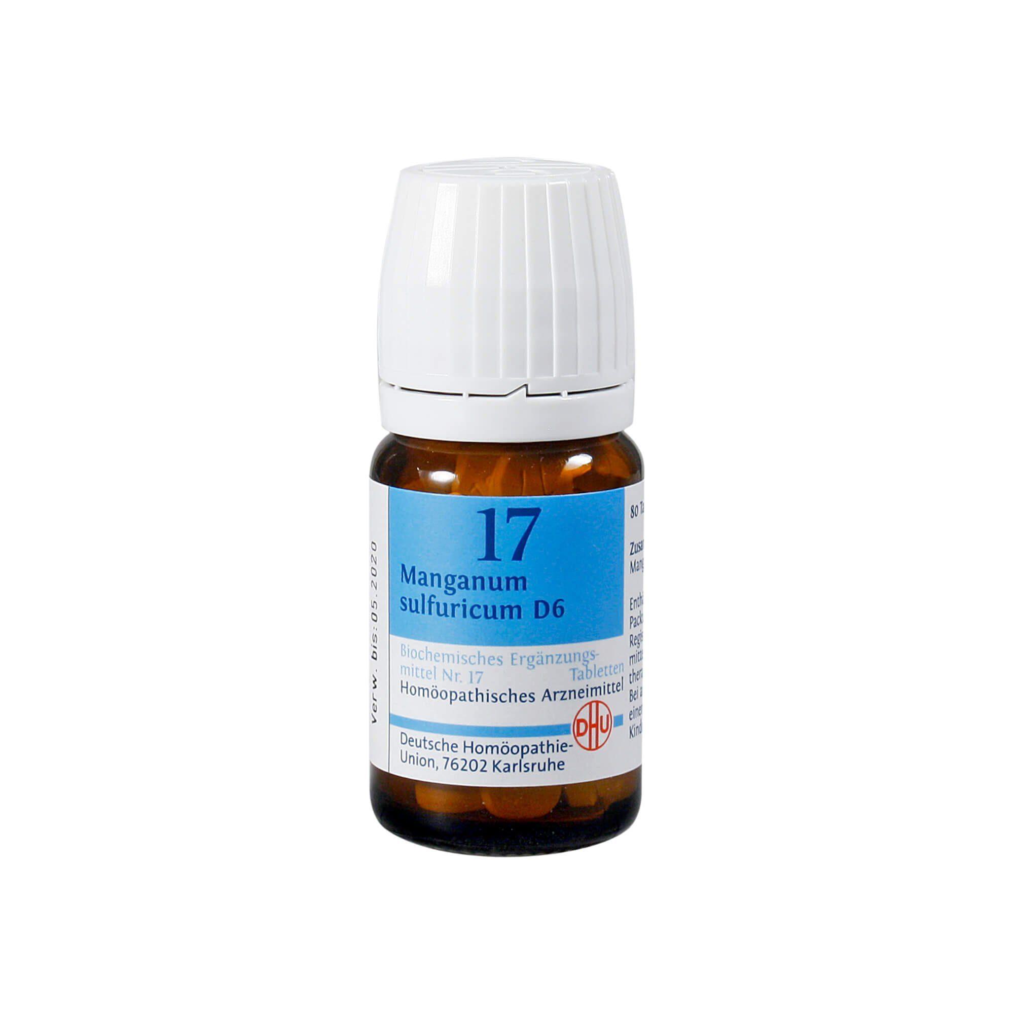 Biochemie DHU 17 Manganum Sulfuricum D 6 Tabletten, 80 St