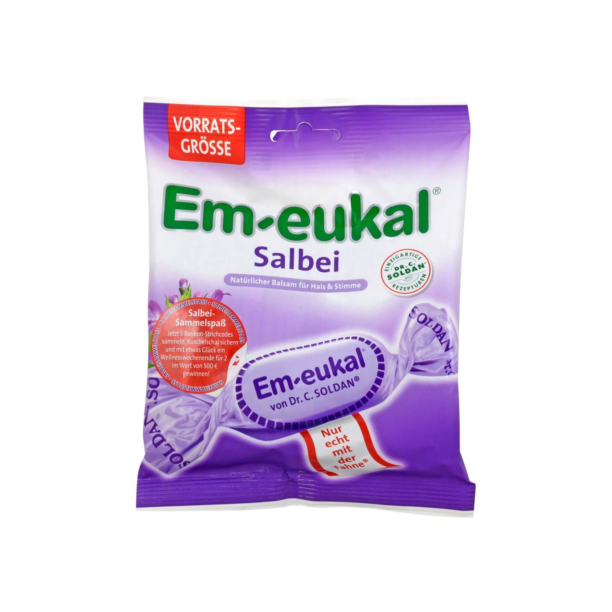 Em Eukal Bonbons Salbei zuckerhaltig, 150 g