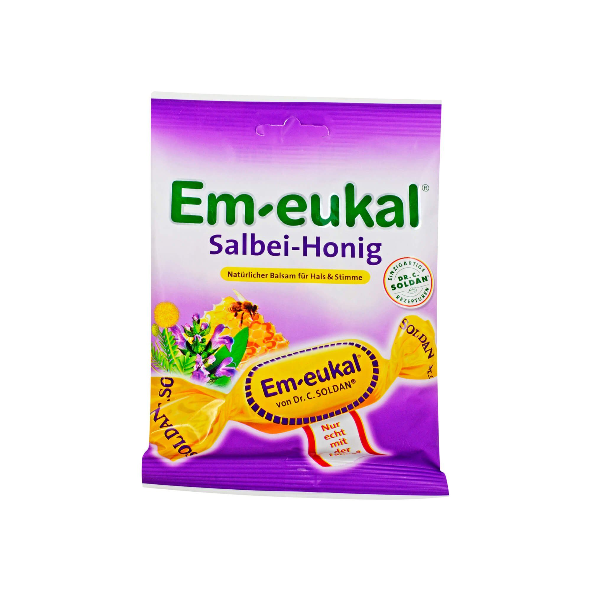 Em Eukal Bonbons Salbei-Honig zuckerhaltig , 75 g