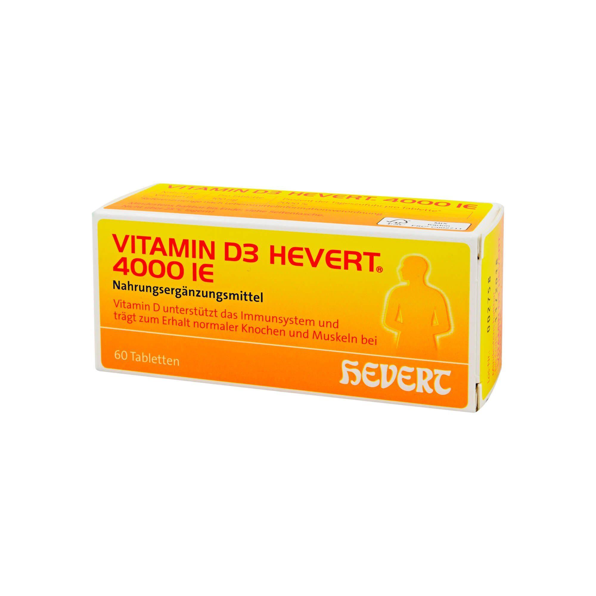 Hevert Vitamin D3 Hevert 4. 000 I. E. Tabletten , 60 St