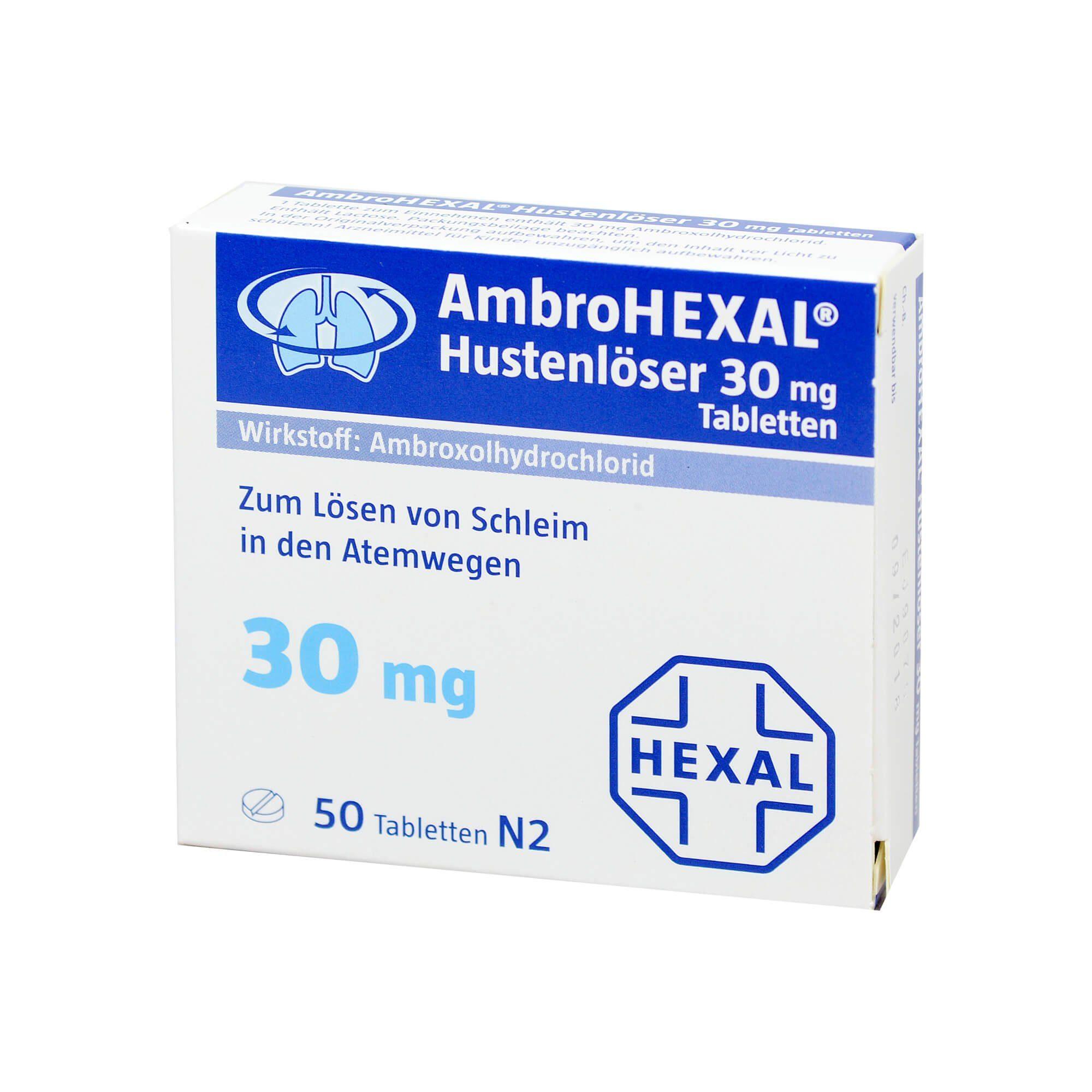 AmbroHEXAL Hustenlöser 30 mg , 50 St