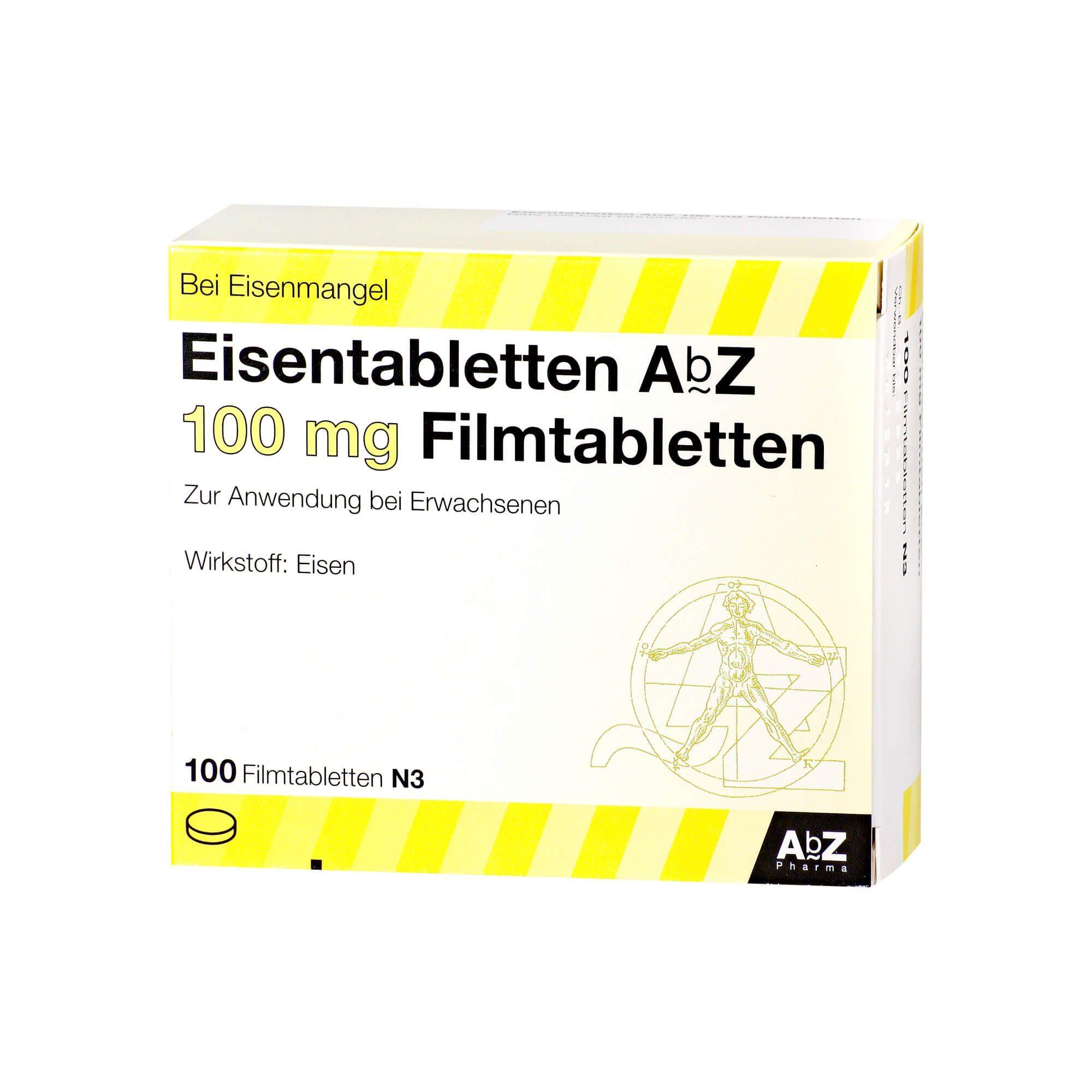 Eisentabletten AbZ 100mg (, 100 St)