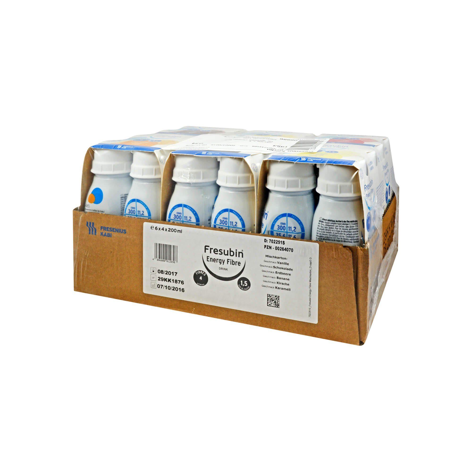 Fresubin ENERGY Fibre Drink Mischkarton Trinkflasche, 6X4X200 ml
