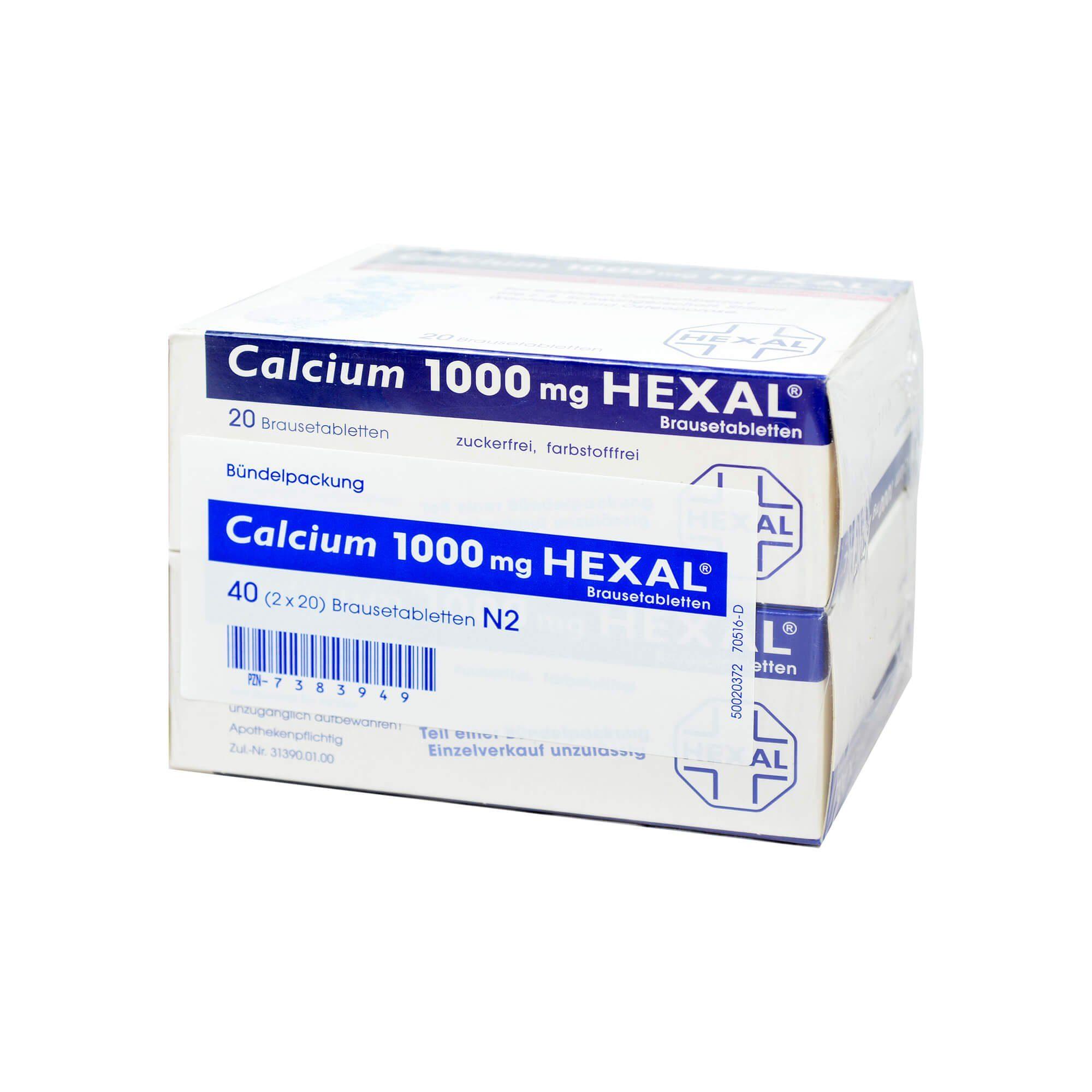 Calcium 1000 Hexal, 40 St