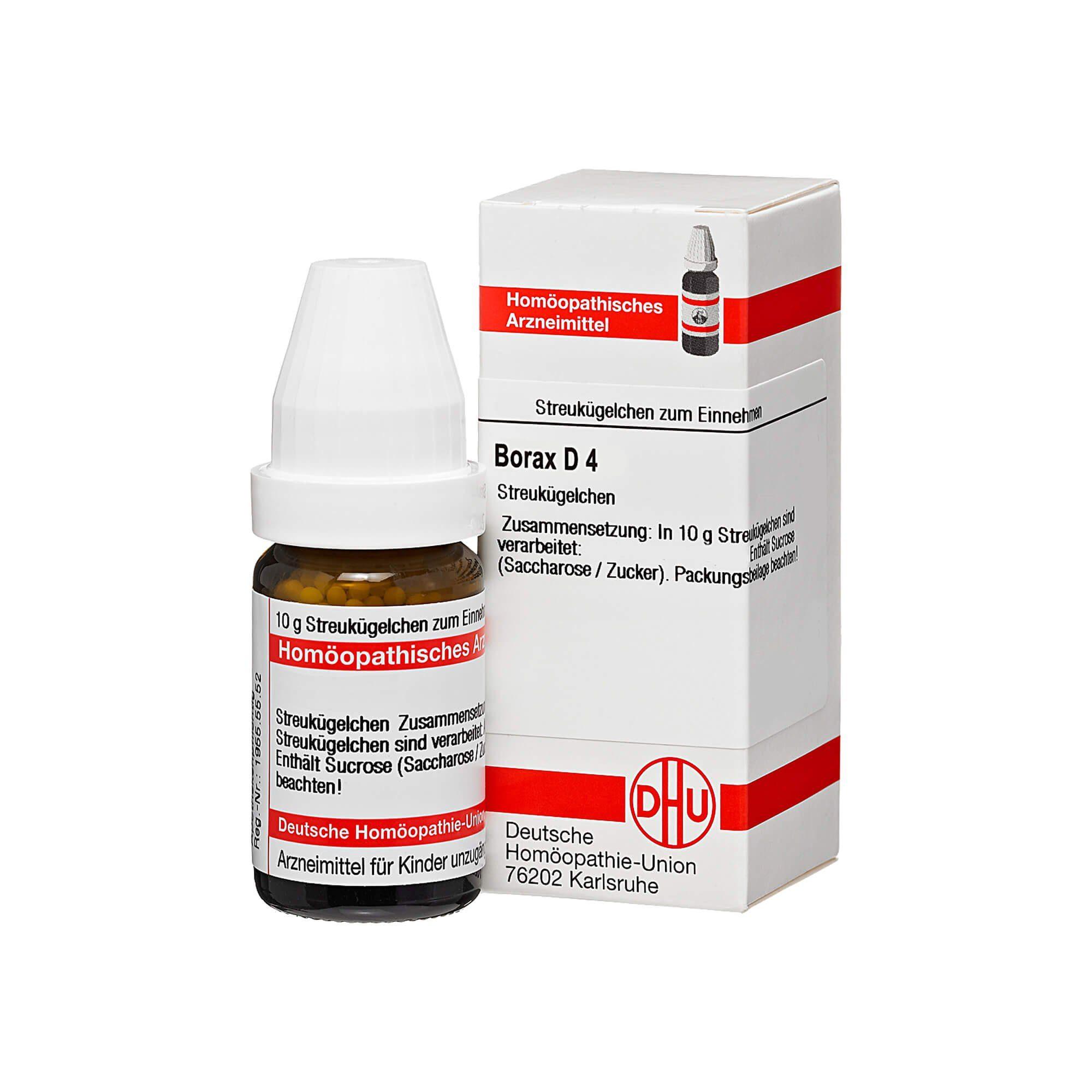 Borax D 4 Globuli, 10 g