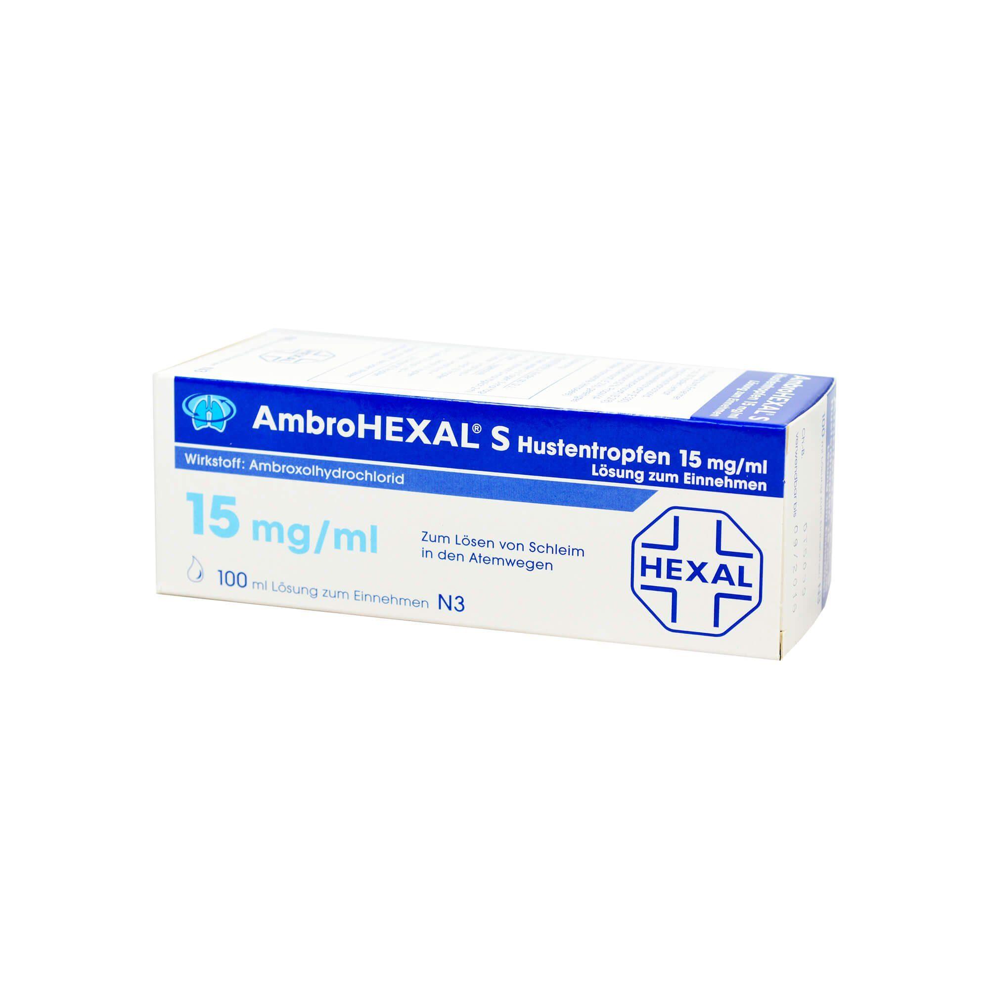 AmbroHEXAL Hustentropfen 15 mg/ml , 100 ml