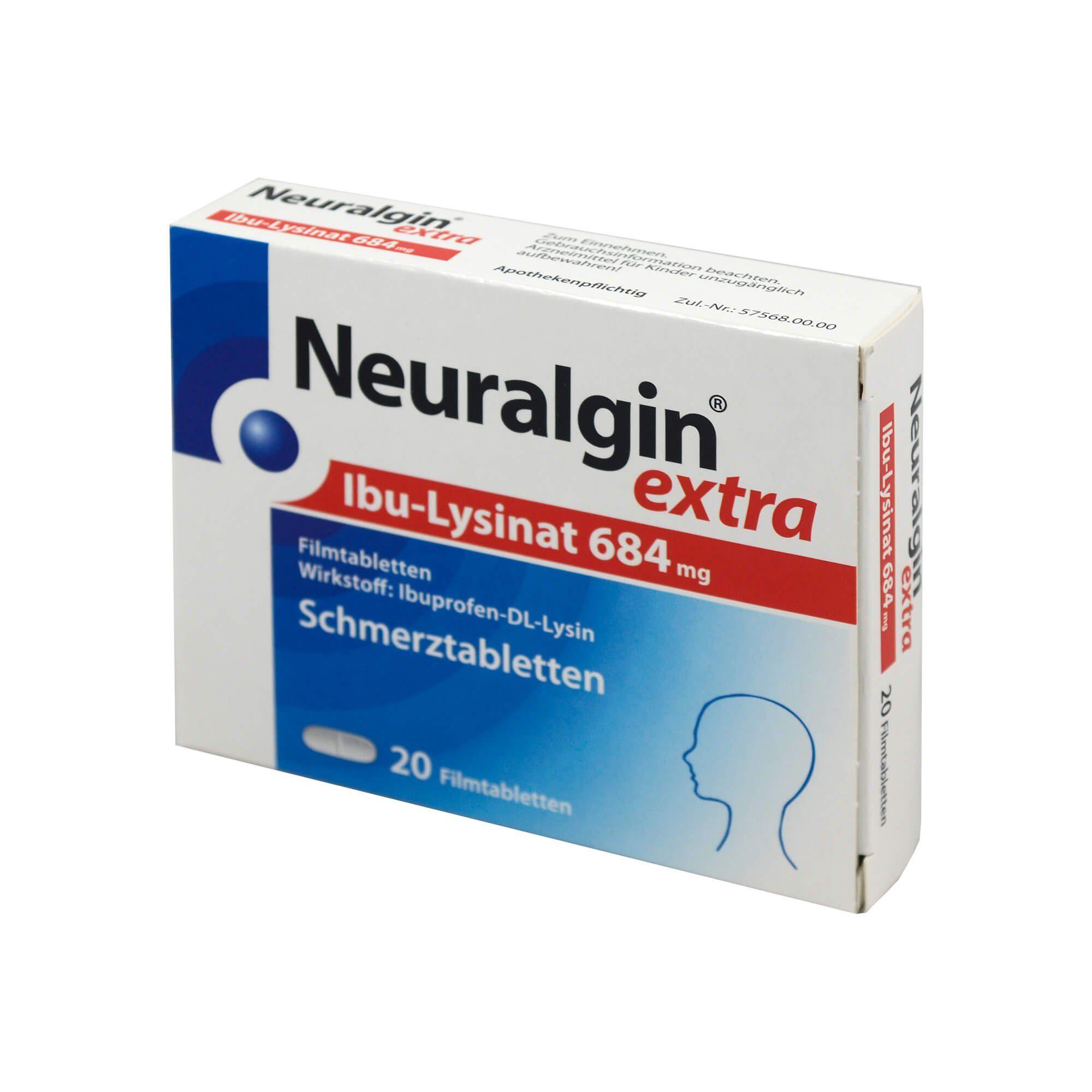Neuralgin Extra IBU-Lysinat Filmtabletten , 20 St