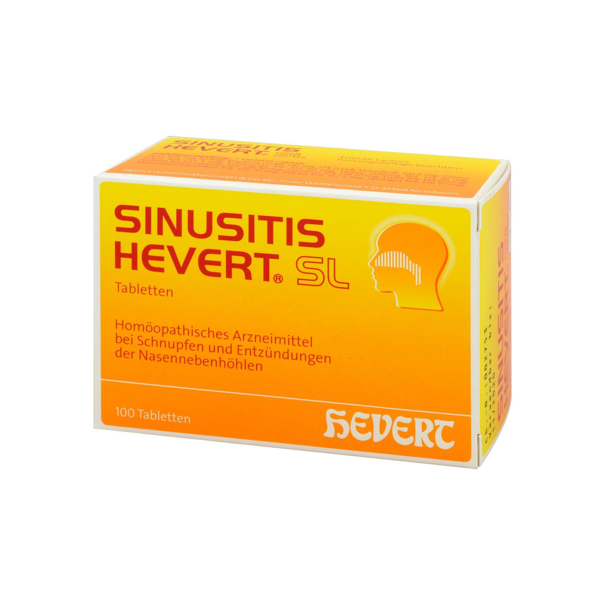 SINUSITIS HEVERT SL Tabletten , 100 St