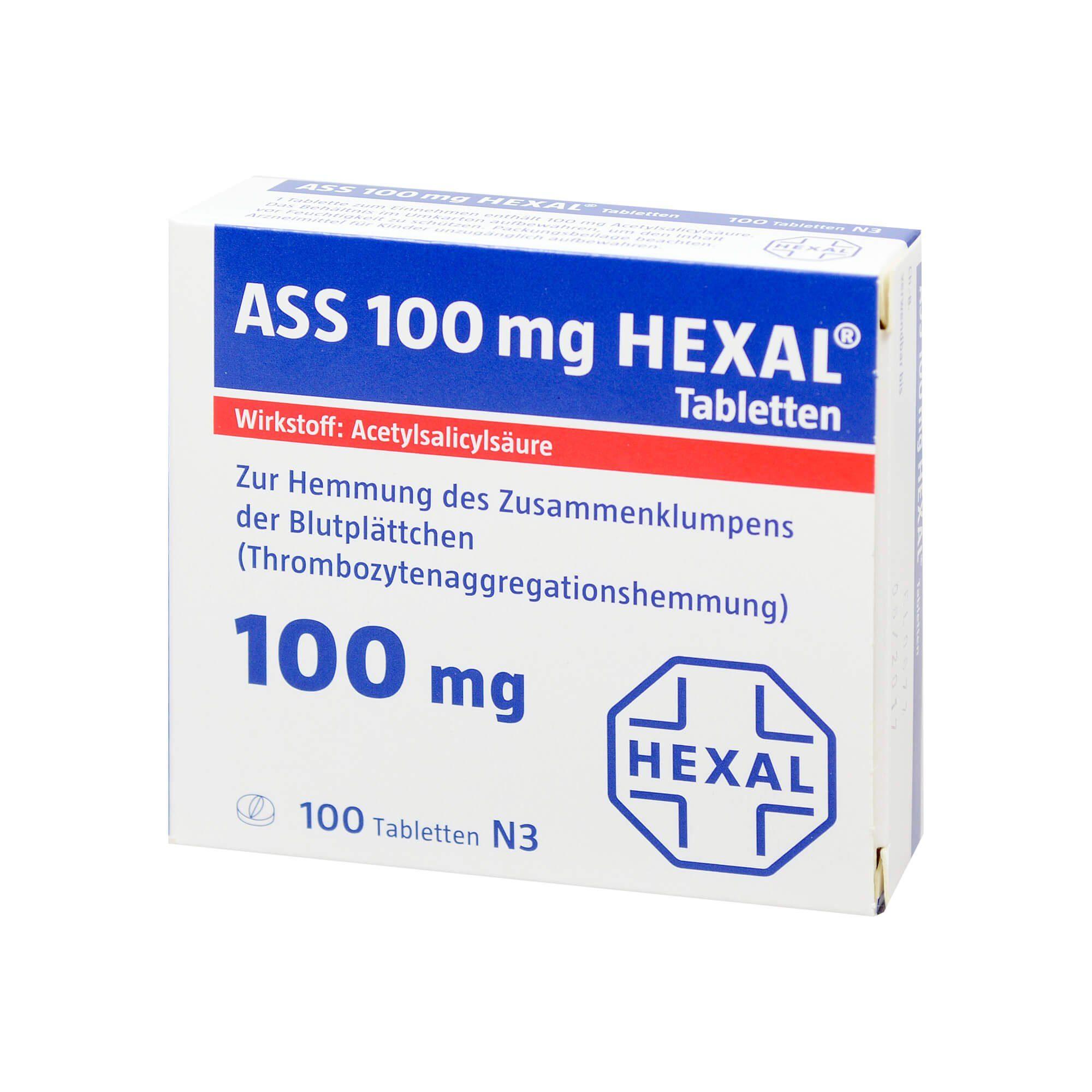 ASS 100 mg Hexal, 100 St