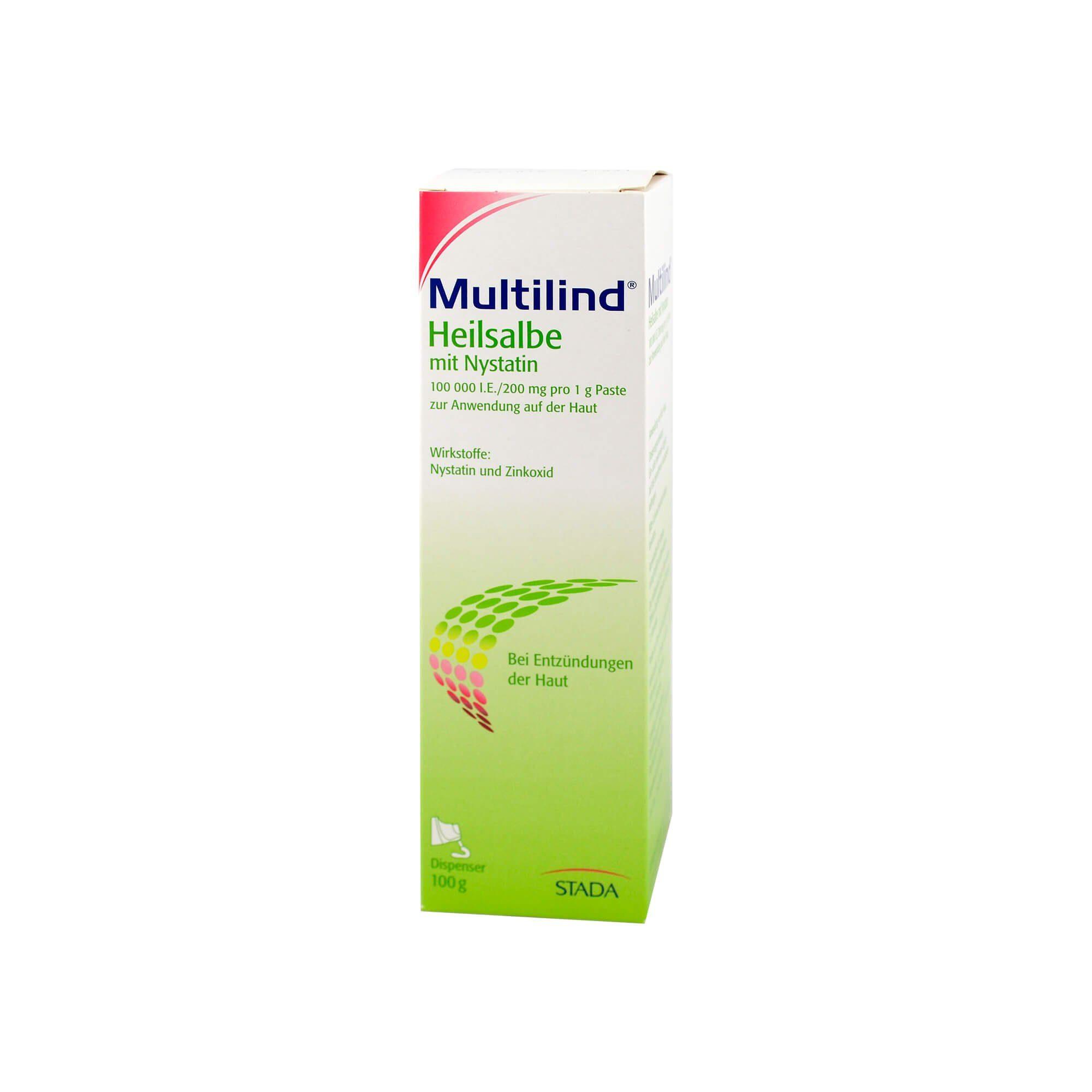 Multilind Heilsalbe mit Nystatin und Zinkoxid, 100 g