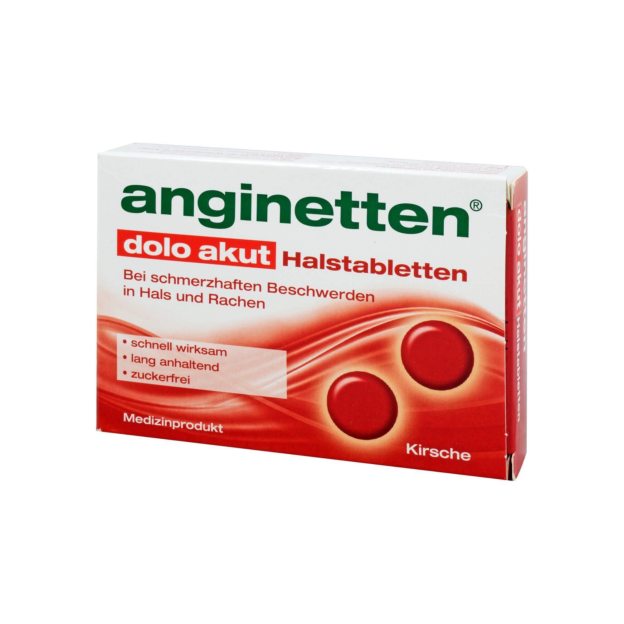 Anginetten dolo akut Halstabletten Kirschgeschmack, 24 St
