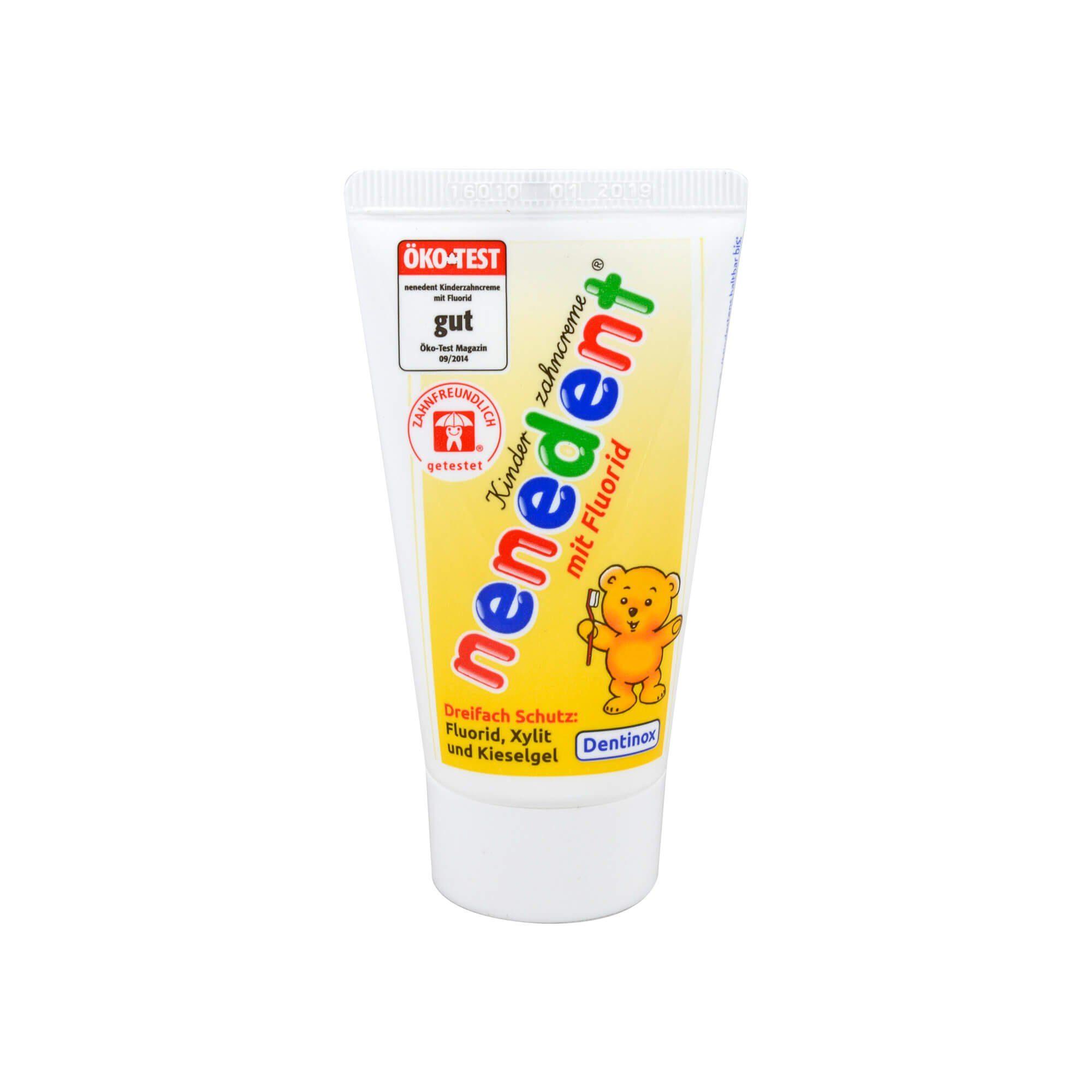 Nenedent Kinderzahncreme mit Fluorid, 50 ml