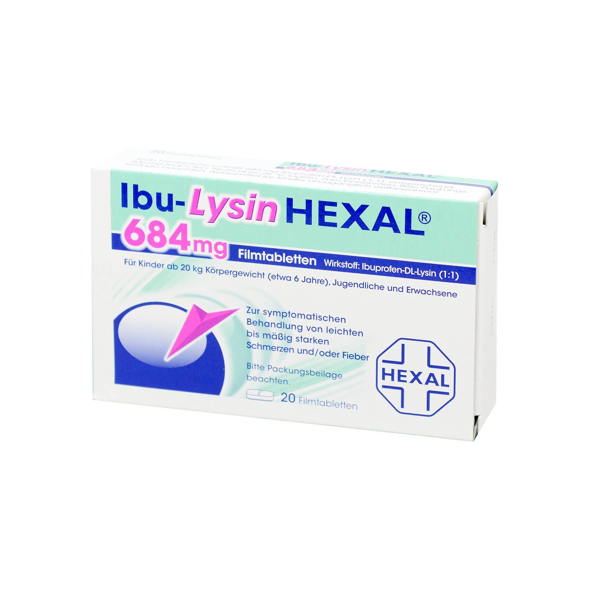 Ibu-LysinHexal 684 mg , 20 St