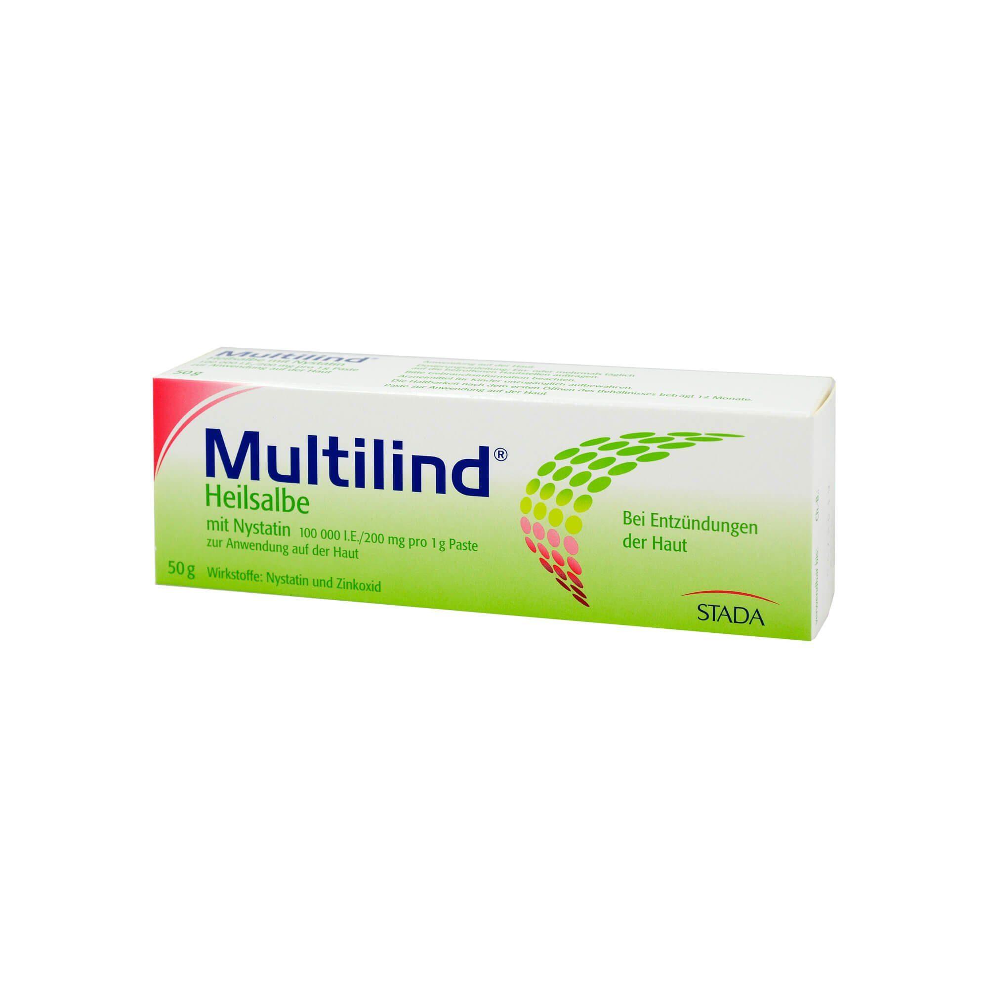 Multilind Heilsalbe mit Nystatin und Zinkoxid, 50 g