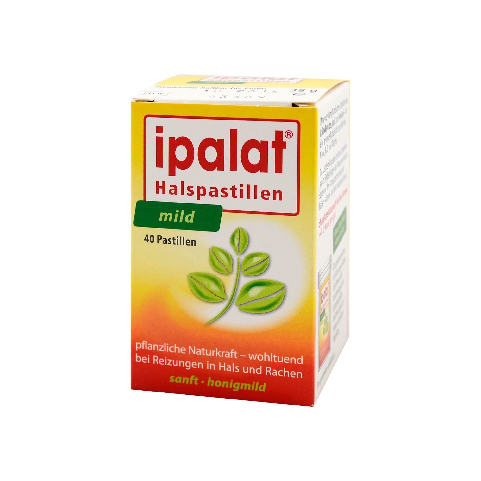 Ipalat Halspastillen zuckerfrei mild , 40 St