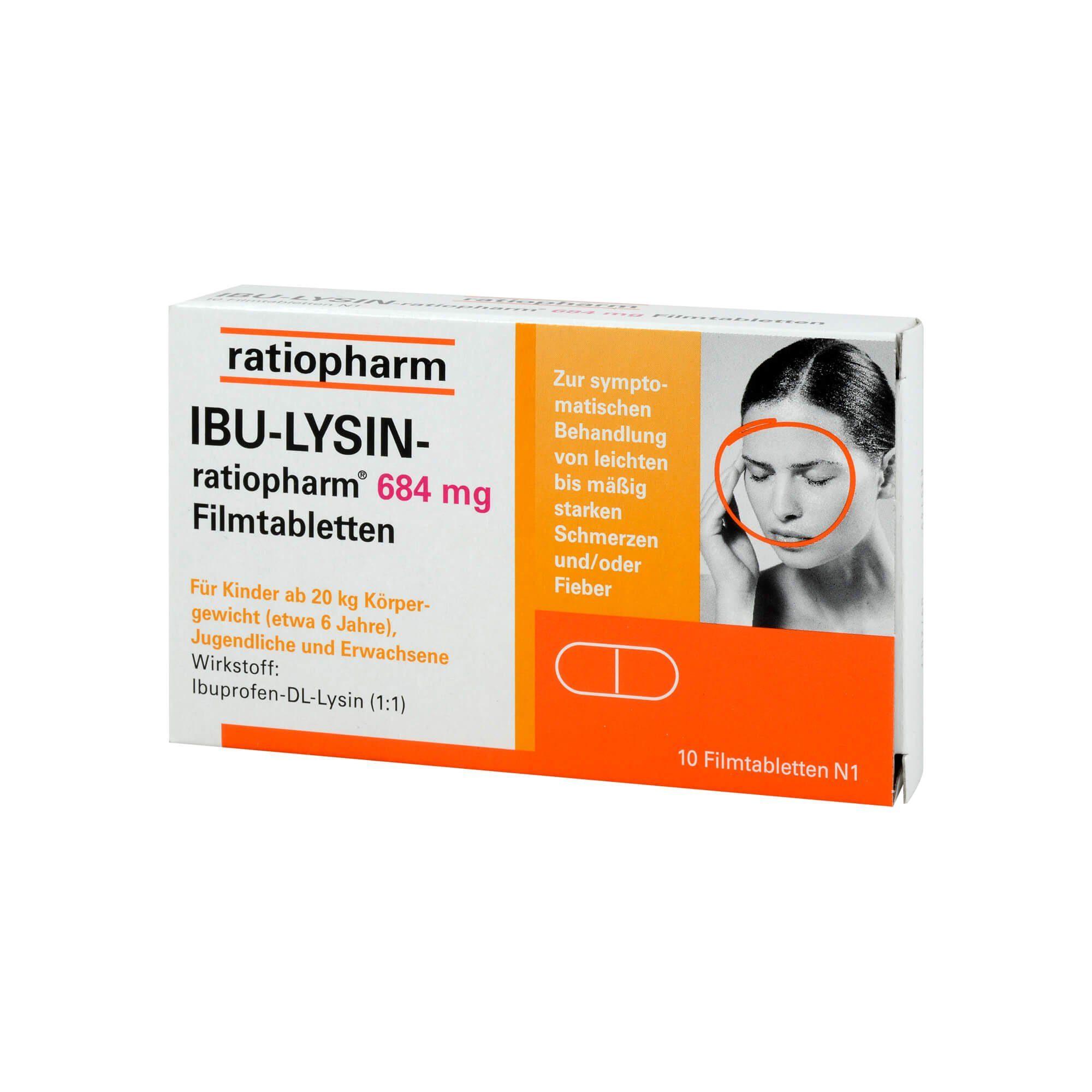 ratiopharm IBU-LYSIN-ratiopharm 684 mg , 10 St