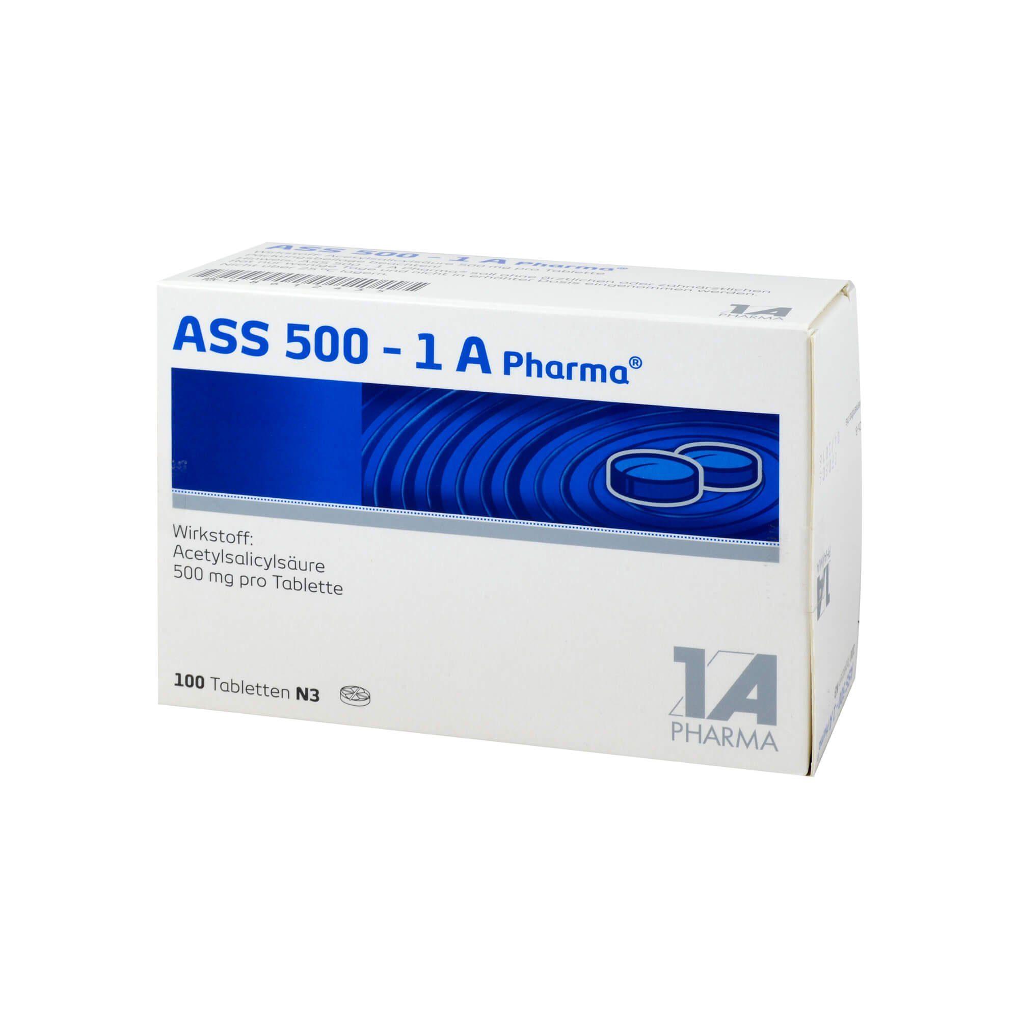 ASS 500 1A Pharma Tabletten , 100 St