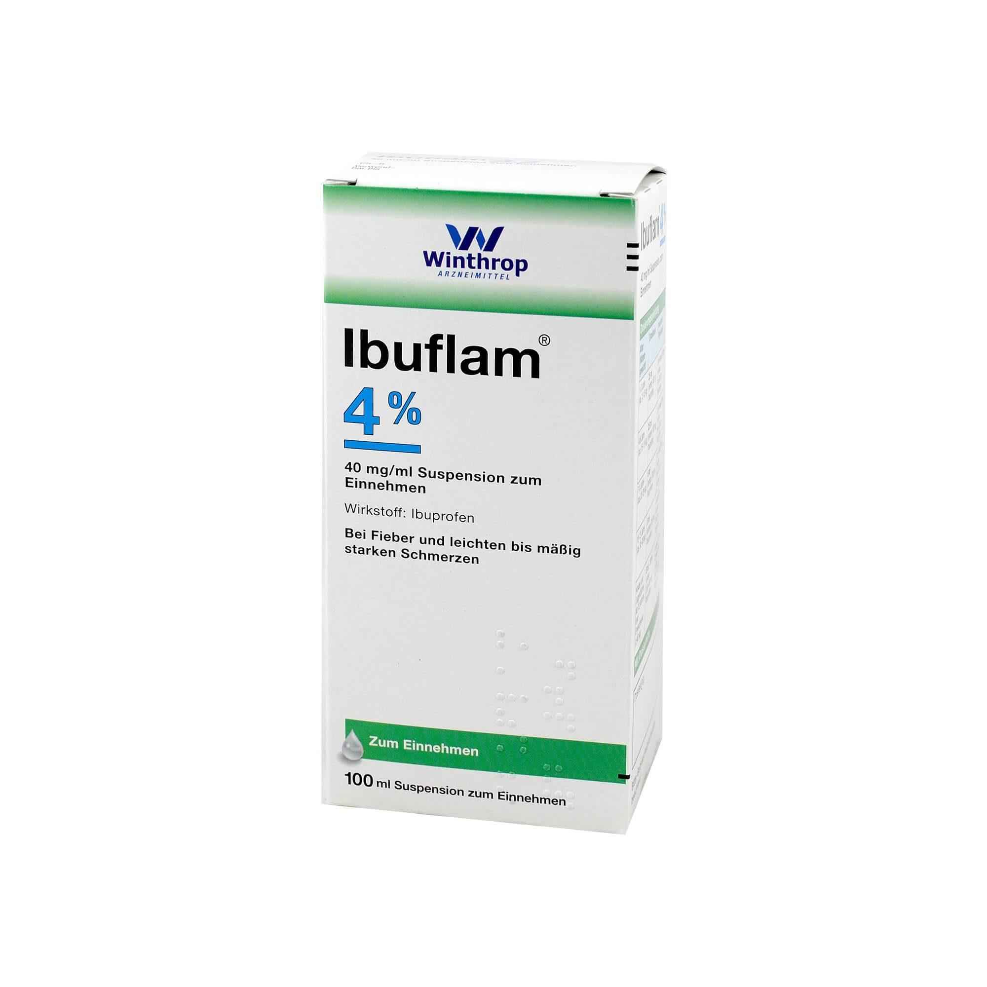 Ibuflam 4% Suspension zum Einnehmen , 100 ml