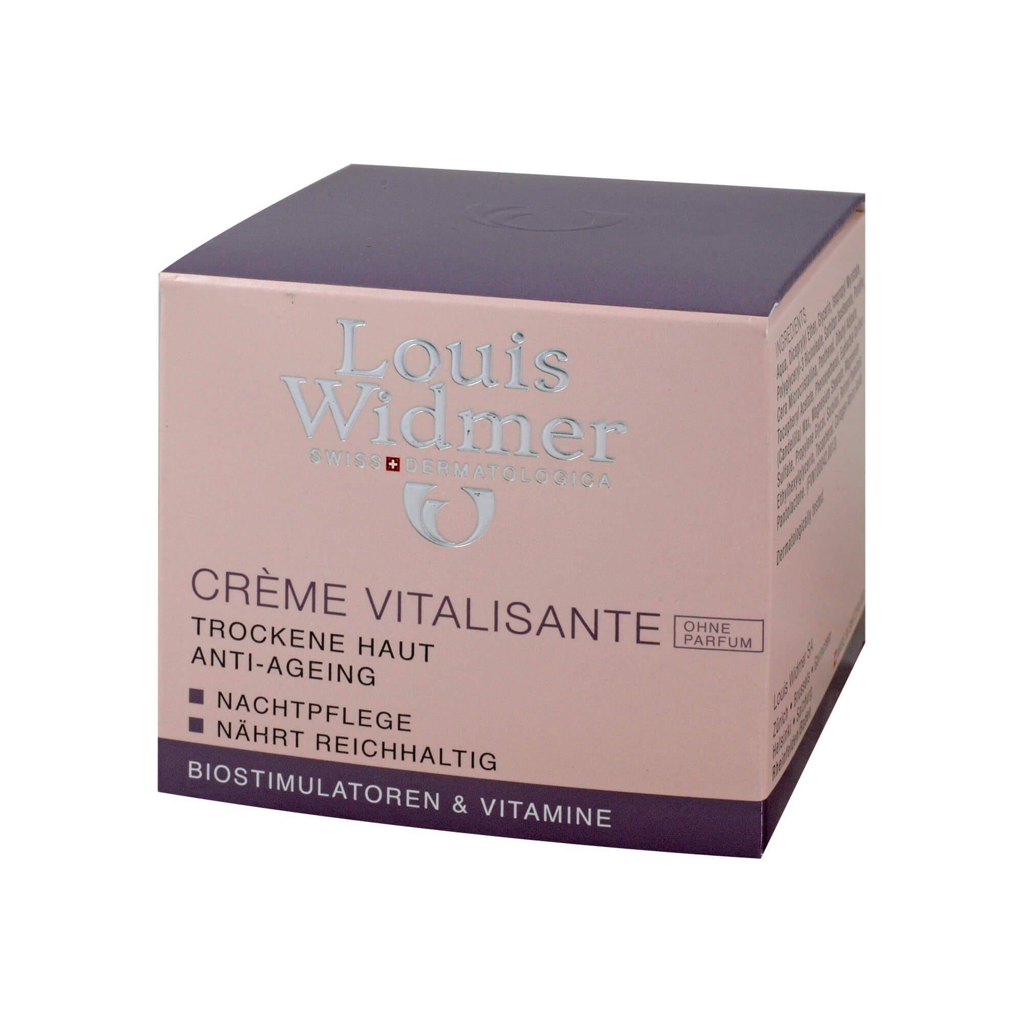 Widmer Creme Vitalisante unparfümiert Antifalten Nachtpflege , 50 ml