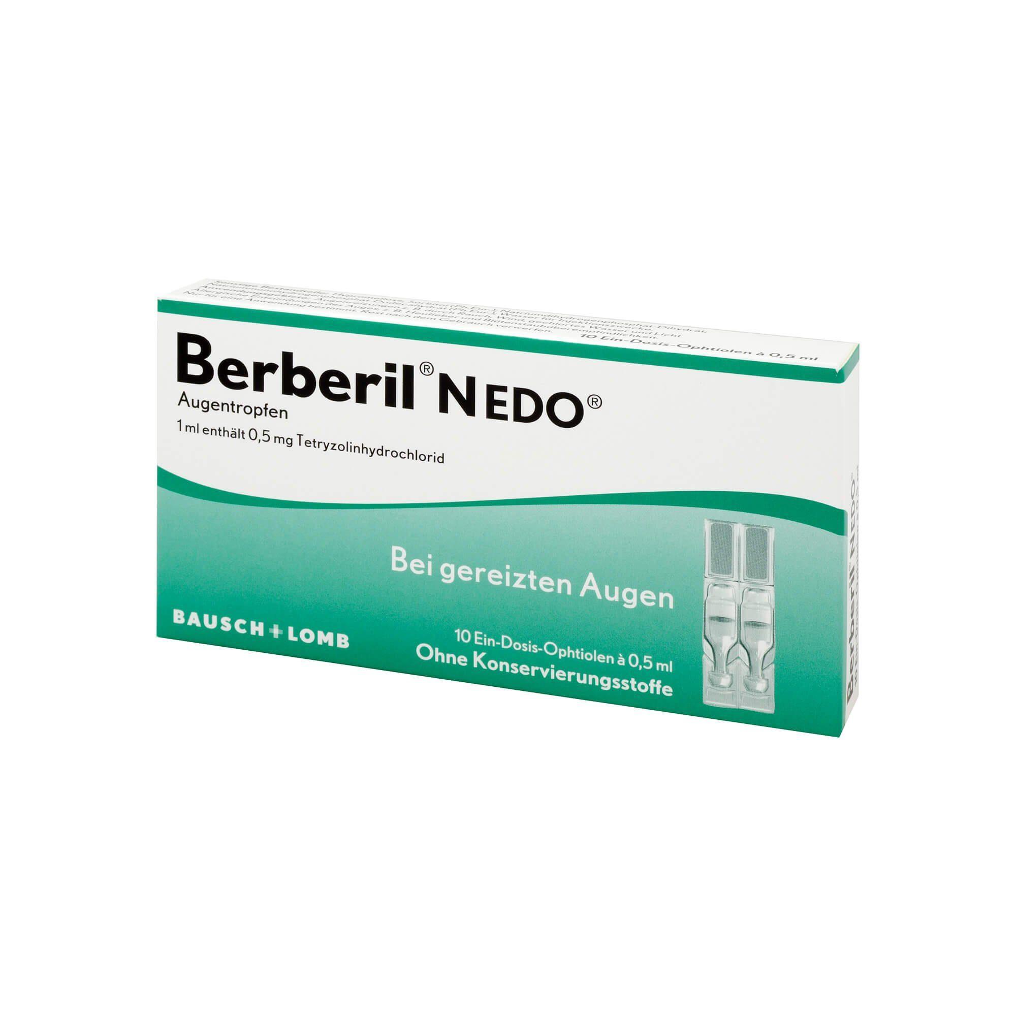 Berberil N Edo Augentropfen, 10X0.5 ml