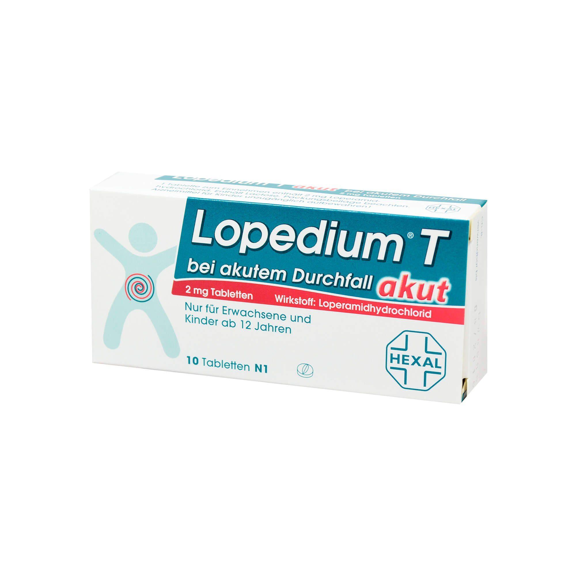 Lopedium T akut bei akutem Durchfall, 10 St