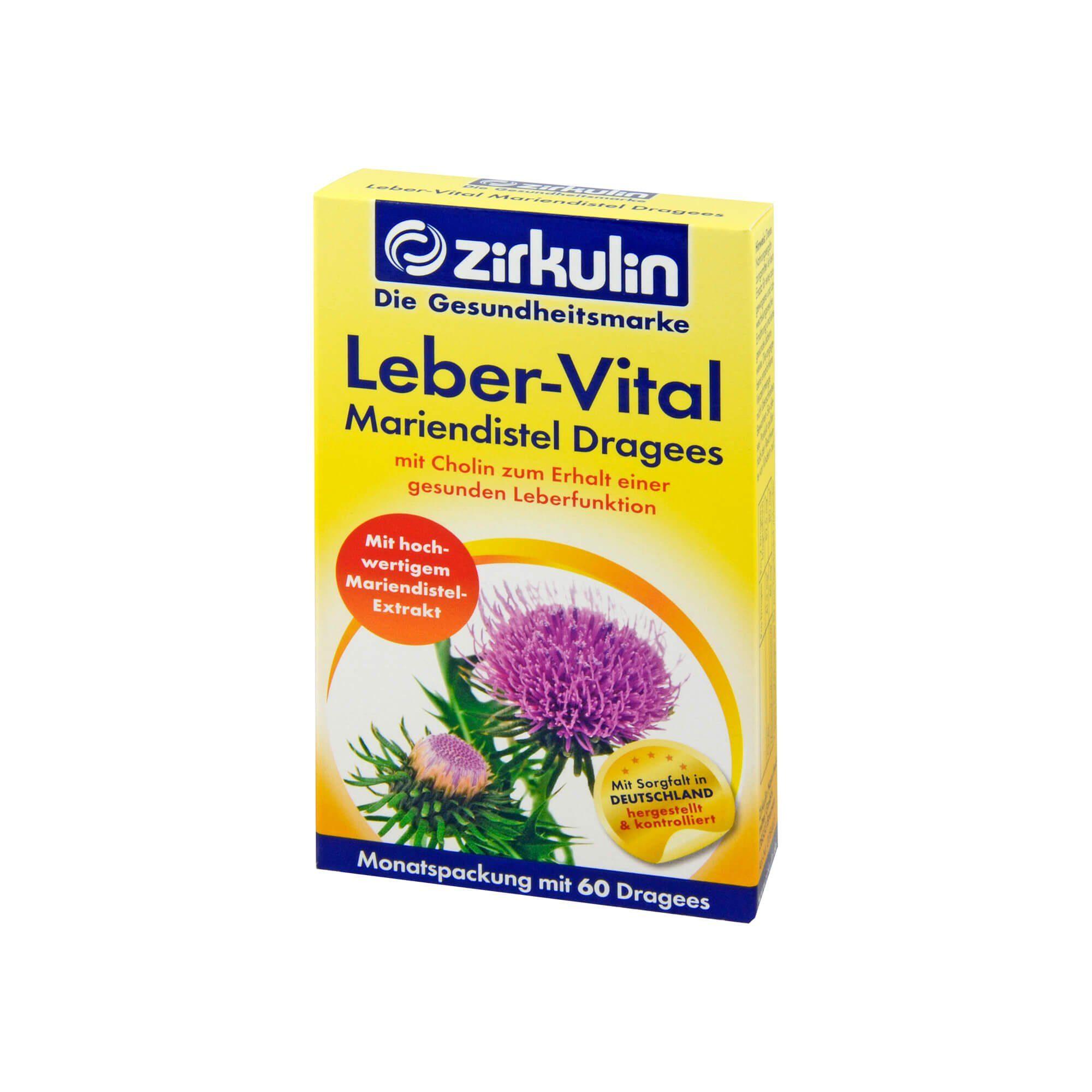 Zirkulin Leber-Vital Mariendistel Dragees, 60 St