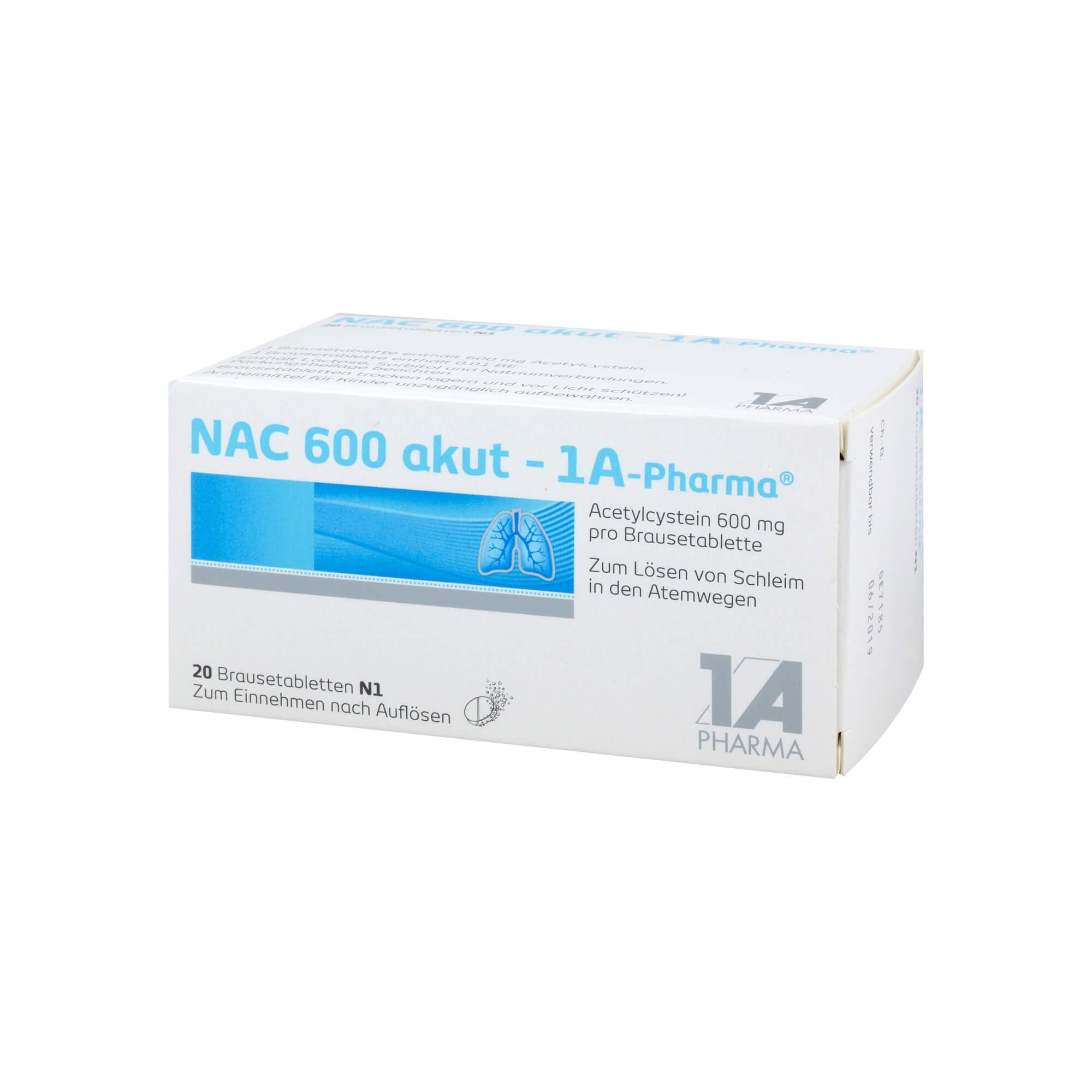 Nac 600 akut 1A Pharma Brausetabletten, 20 St