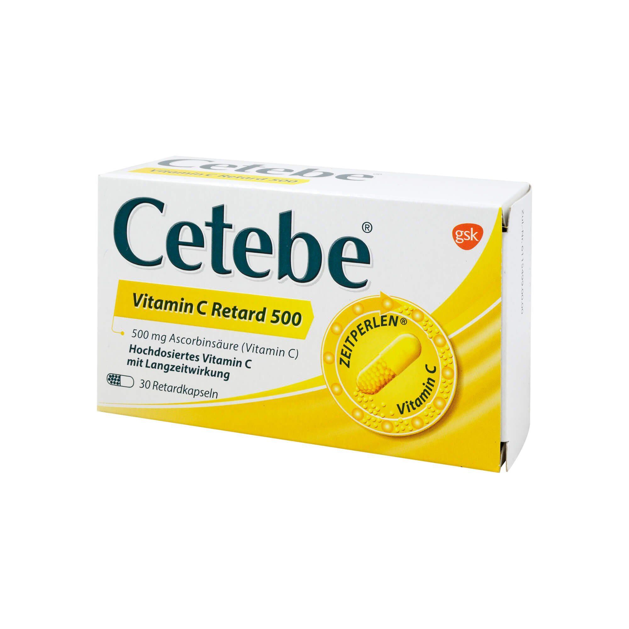 Cetebe Vitamin C Retard 500, 30 St