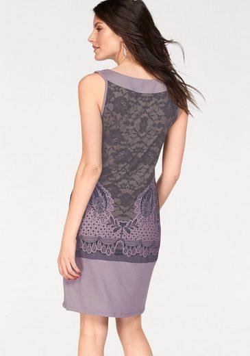 Vivance Jerseykleid, mit Rosen-Druck