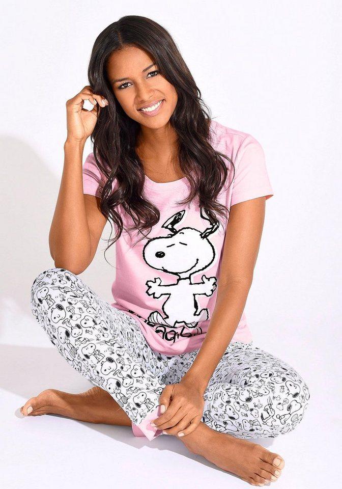 d6777655ed Peanuts Pyjama, mit Snoopy-Print in N-Größen   OTTO