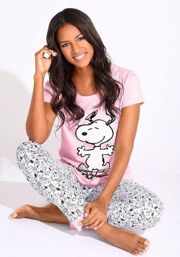 Peanuts Pyjama mit Snoopy-Print in N-Größen