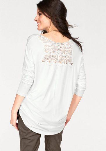 Aniston Longshirt, im Vokuhila-Stil