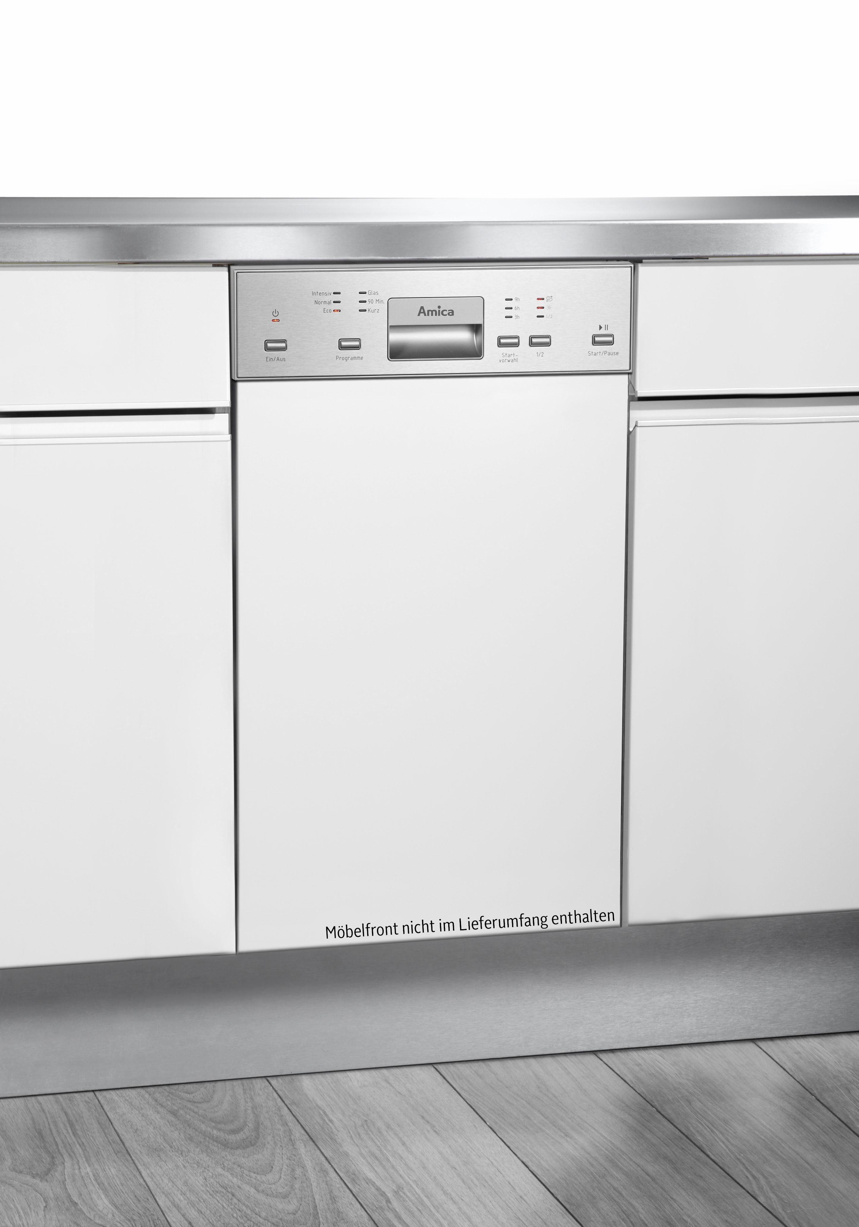 Amica teilintegrierbarer Geschirrspüler, EGSP 14895 E, 9 l, 10 Maßgedecke, 45 cm breit