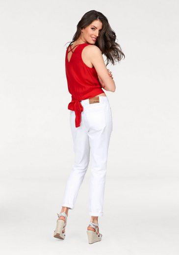 Aniston Blusentop, mit Bindeband im Rücken