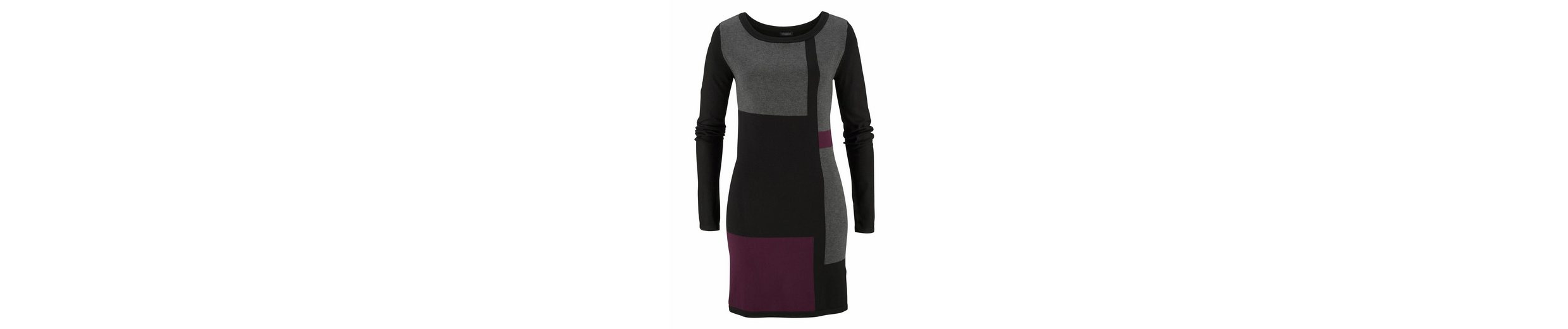 Vivance Strickkleid, im Colourblocking