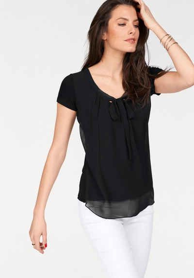 Vivance Shirtbluse mit gedoppeltem Vorderteil e676a82911