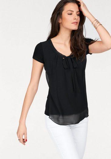Aniston SELECTED Shirtbluse mit gedoppeltem Vorderteil