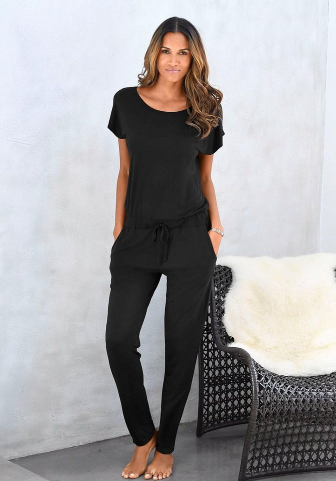 lascana schlaf jumpsuit aus leichter qualit t otto. Black Bedroom Furniture Sets. Home Design Ideas