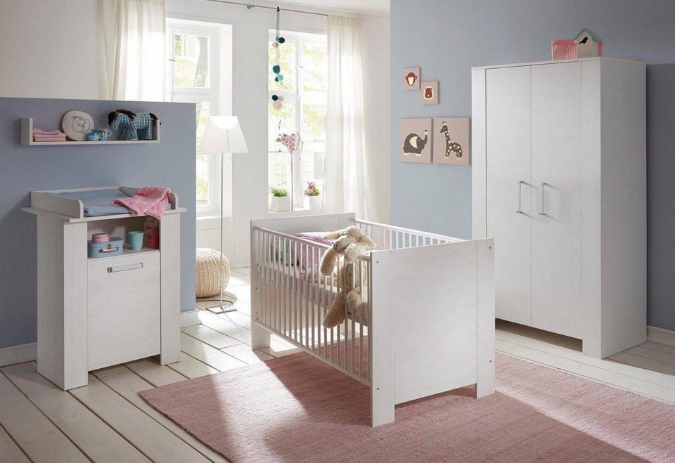 Komplett Babyzimmer »Oslo« Babybett + Wickelkommode + 2-trg ...