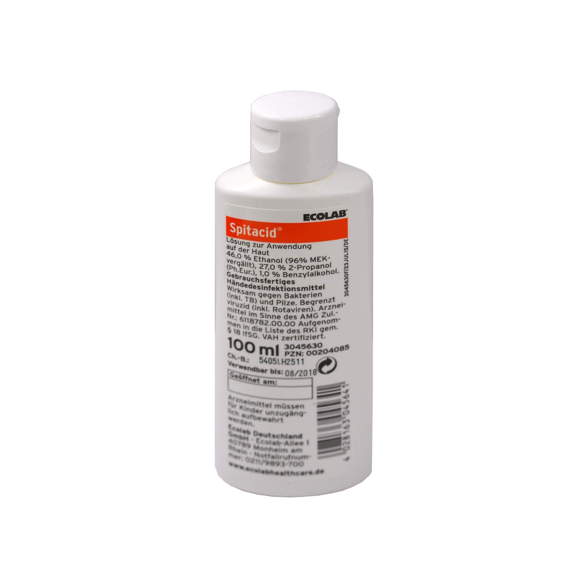 Spitacid Händedesinfektion Taschenflasche , 100 ml
