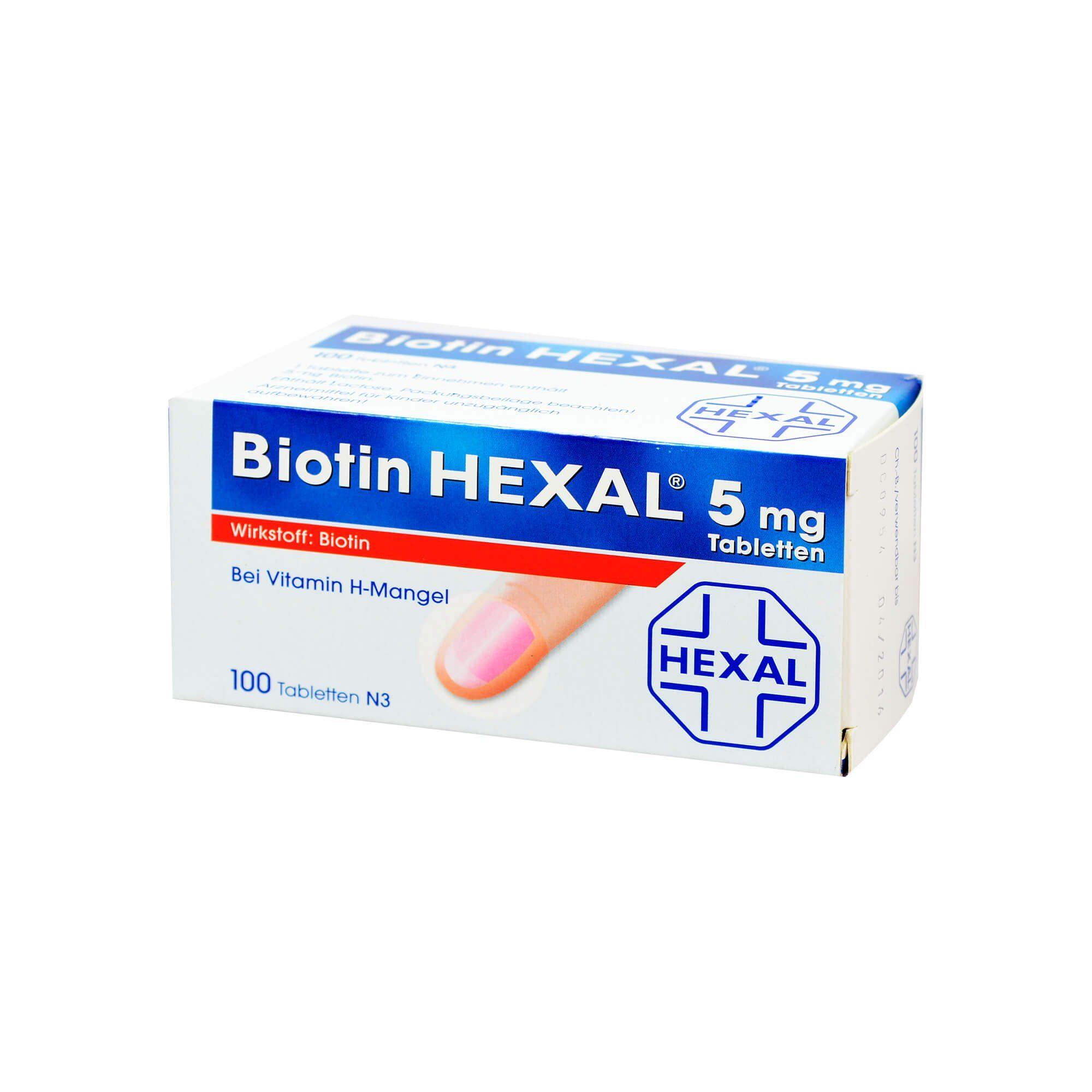 Biotin Hexal 5 mg, 100 St