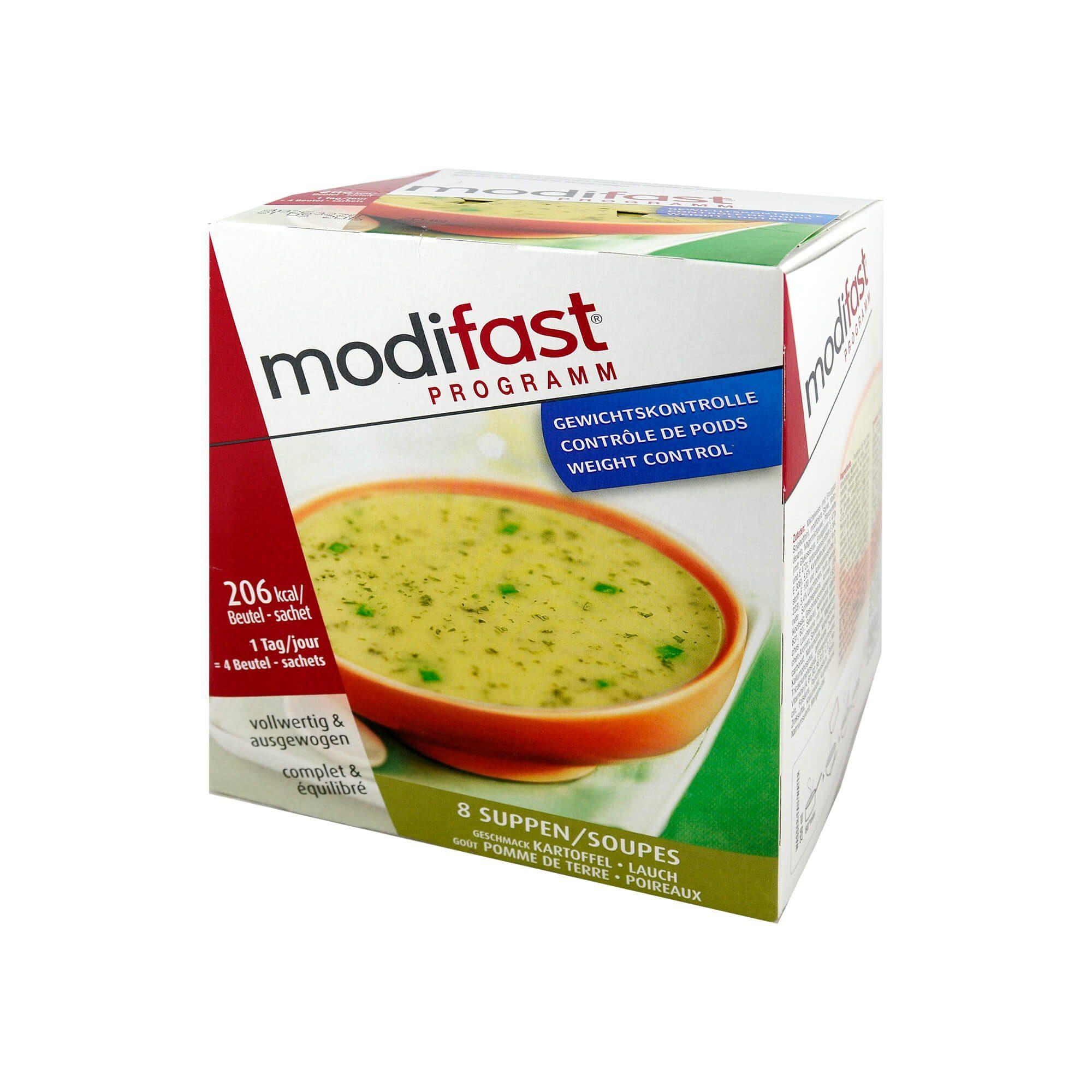 modifast Programm Suppe Kartoffel-Lauch , 8X55 g
