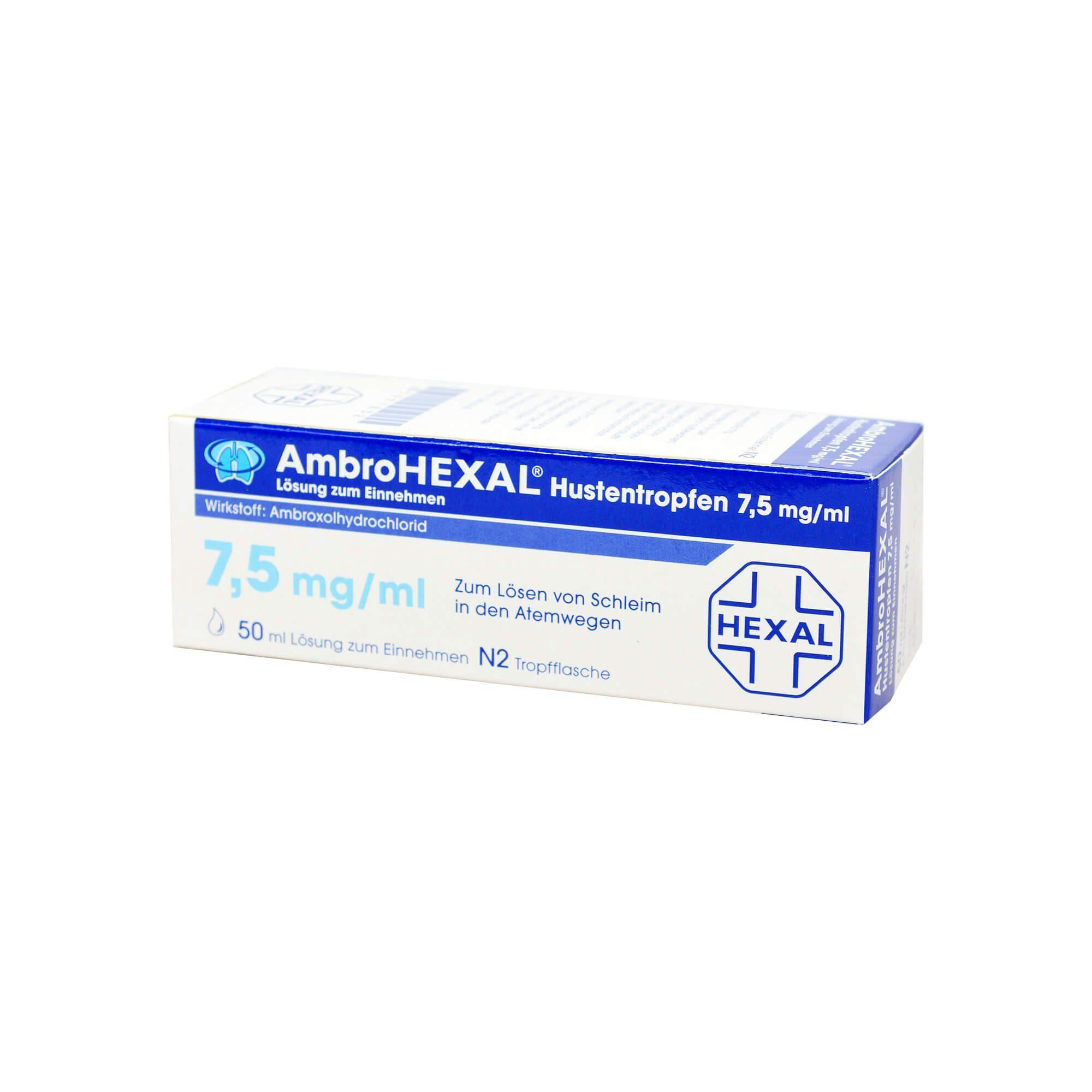 AmbroHEXAL Hustentropfen 7,5 mg/ml (, 50 ml)