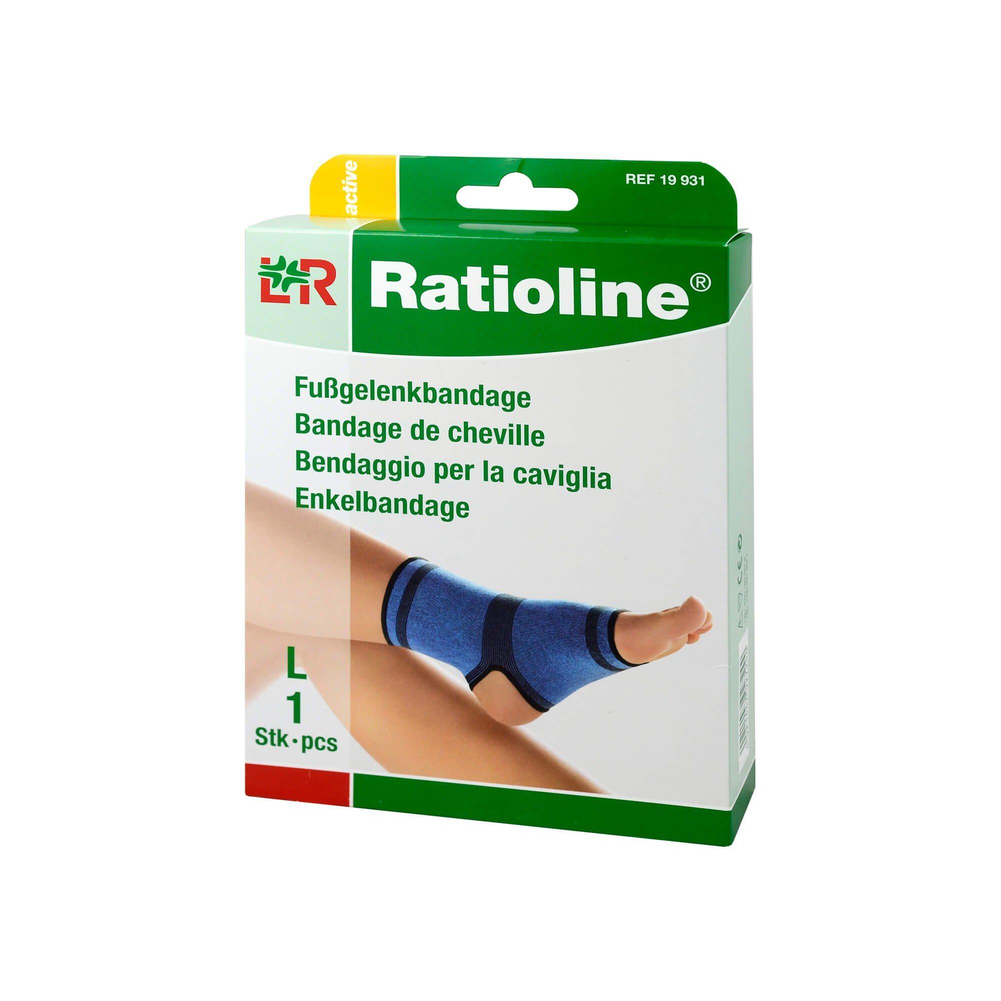 Ratioline Active Fußgelenkbandage Größe L , 1 St