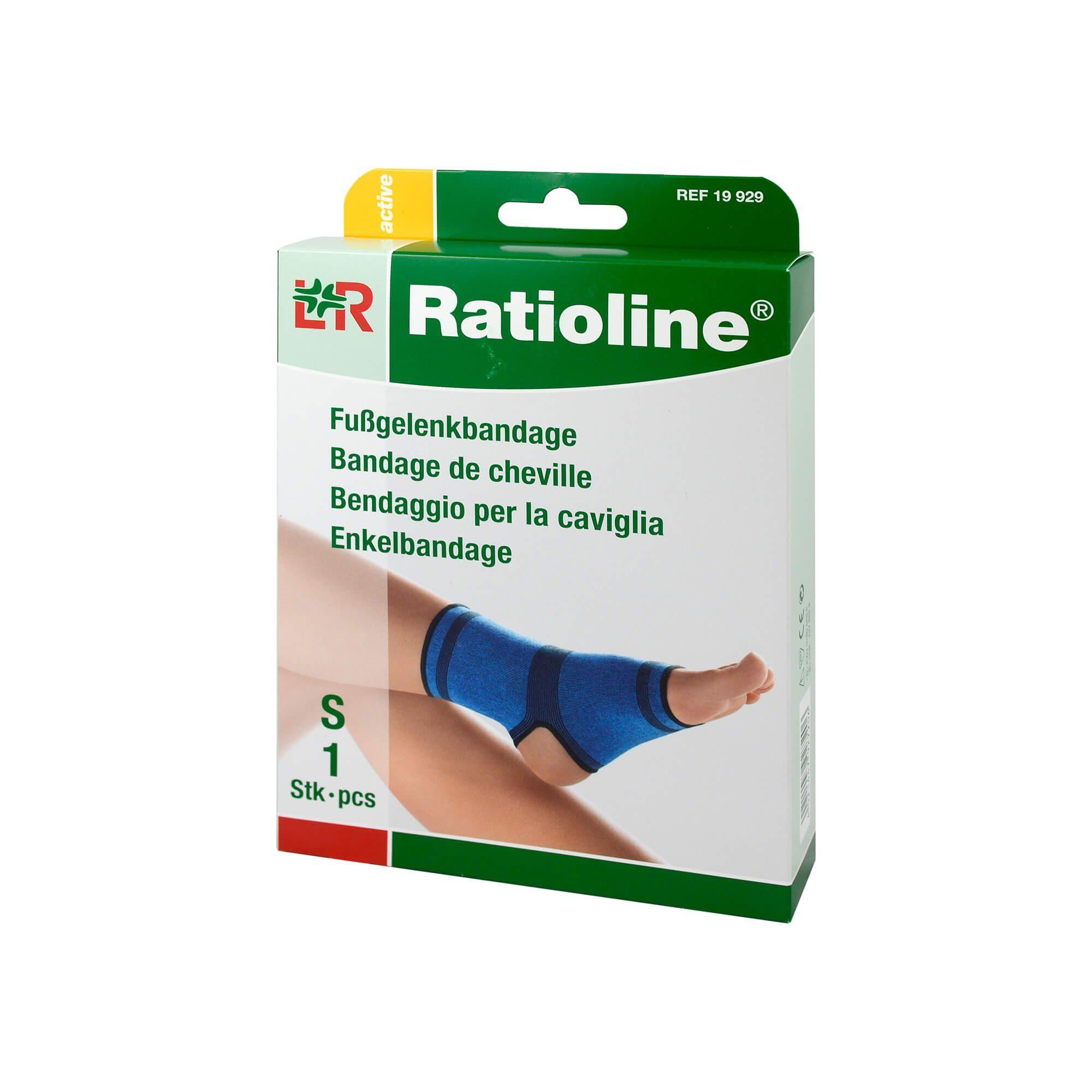 Ratioline Active Fußgelenkbandage Größe S , 1 St