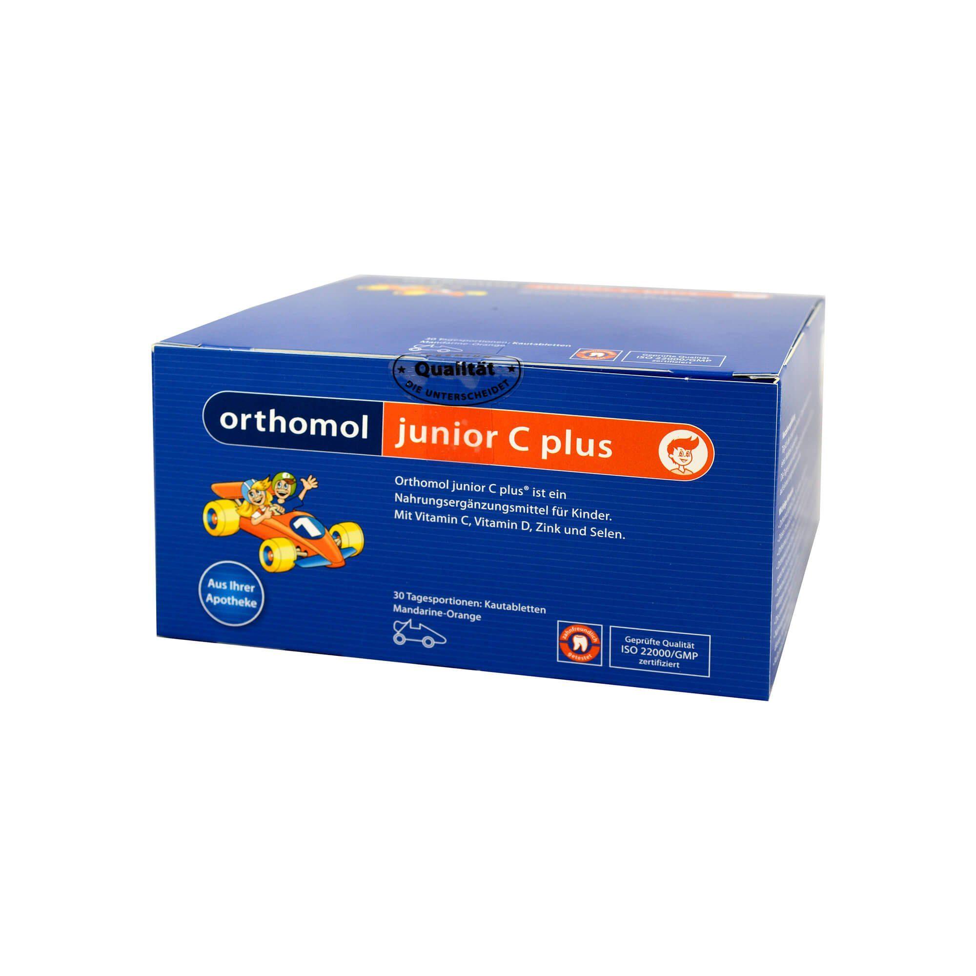 Orthomol Orthomol Junior C plus Kautabletten Mandarine/Orange , 30 St